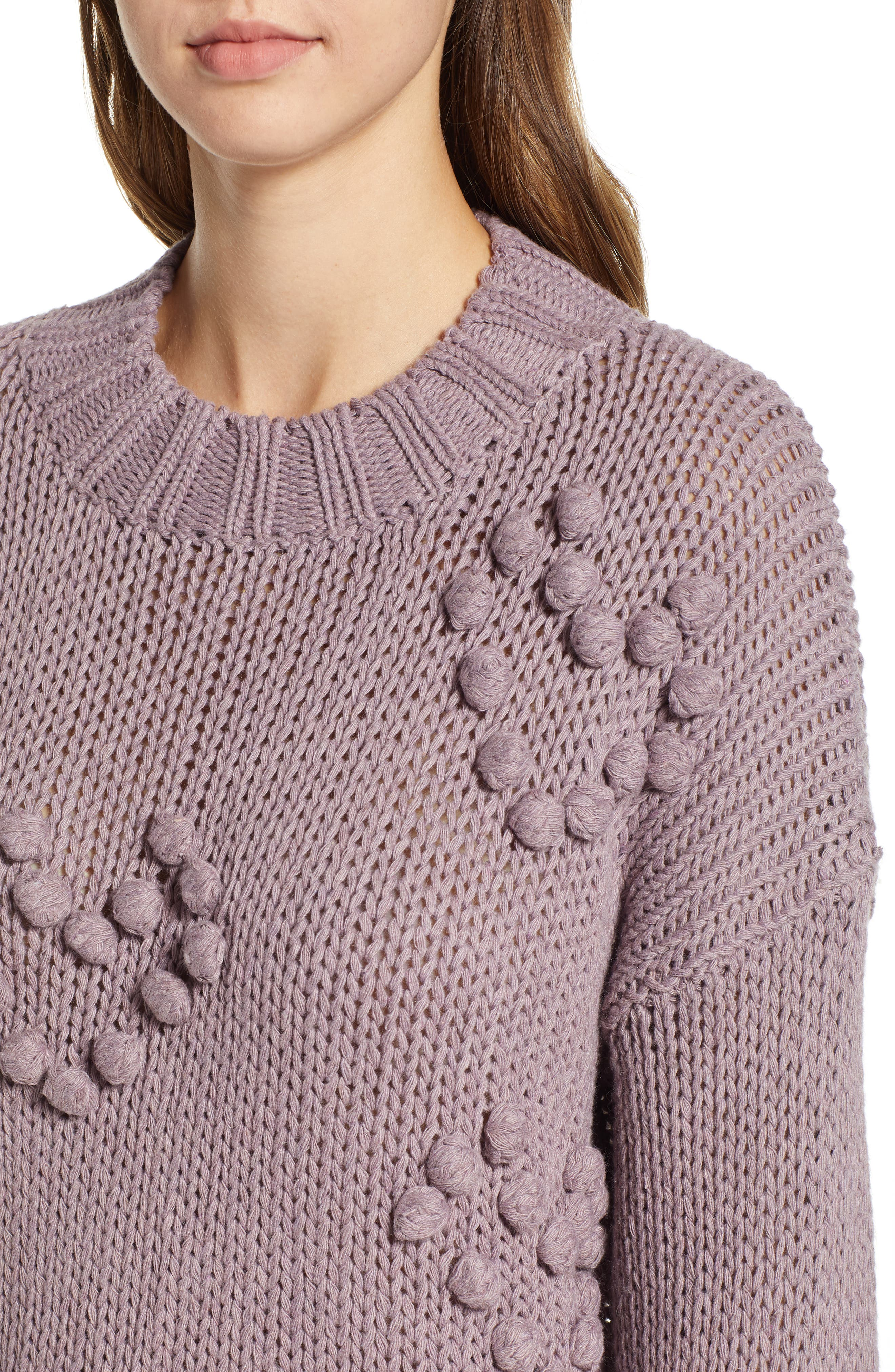Placement Knot Knit Sweater,                             Alternate thumbnail 4, color,                             300