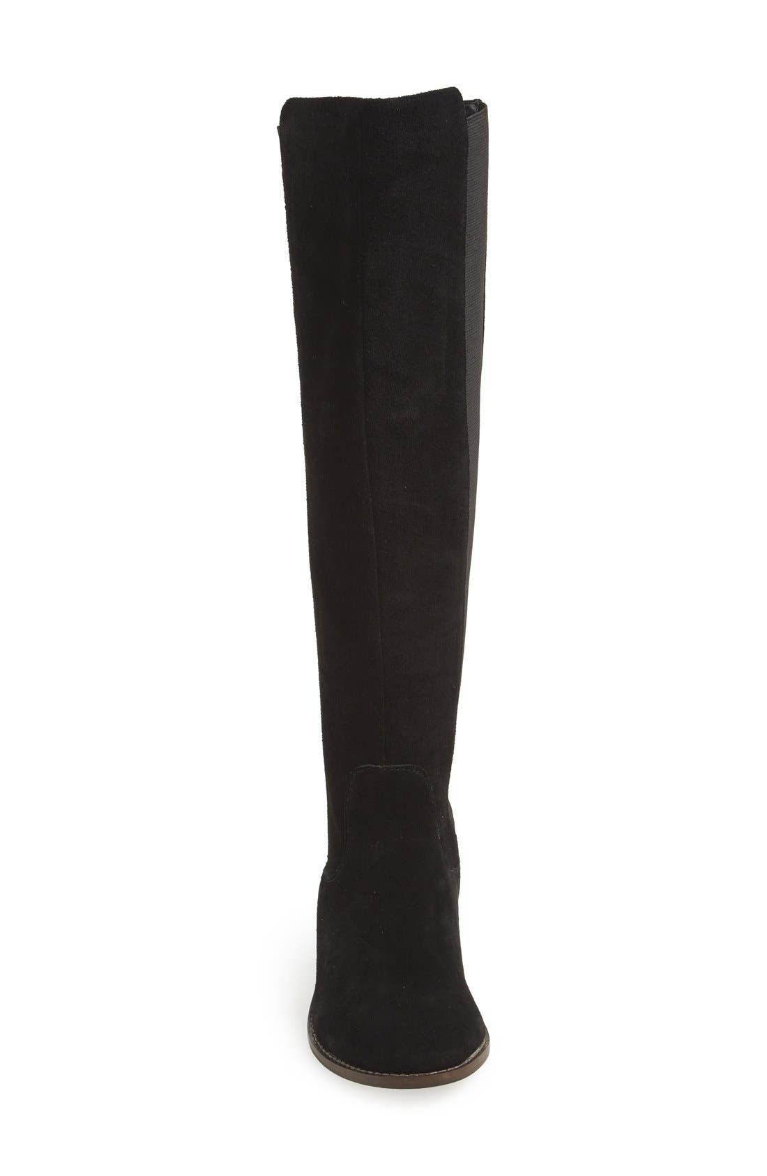 'Timber' Suede Knee High Boot,                             Alternate thumbnail 2, color,                             001