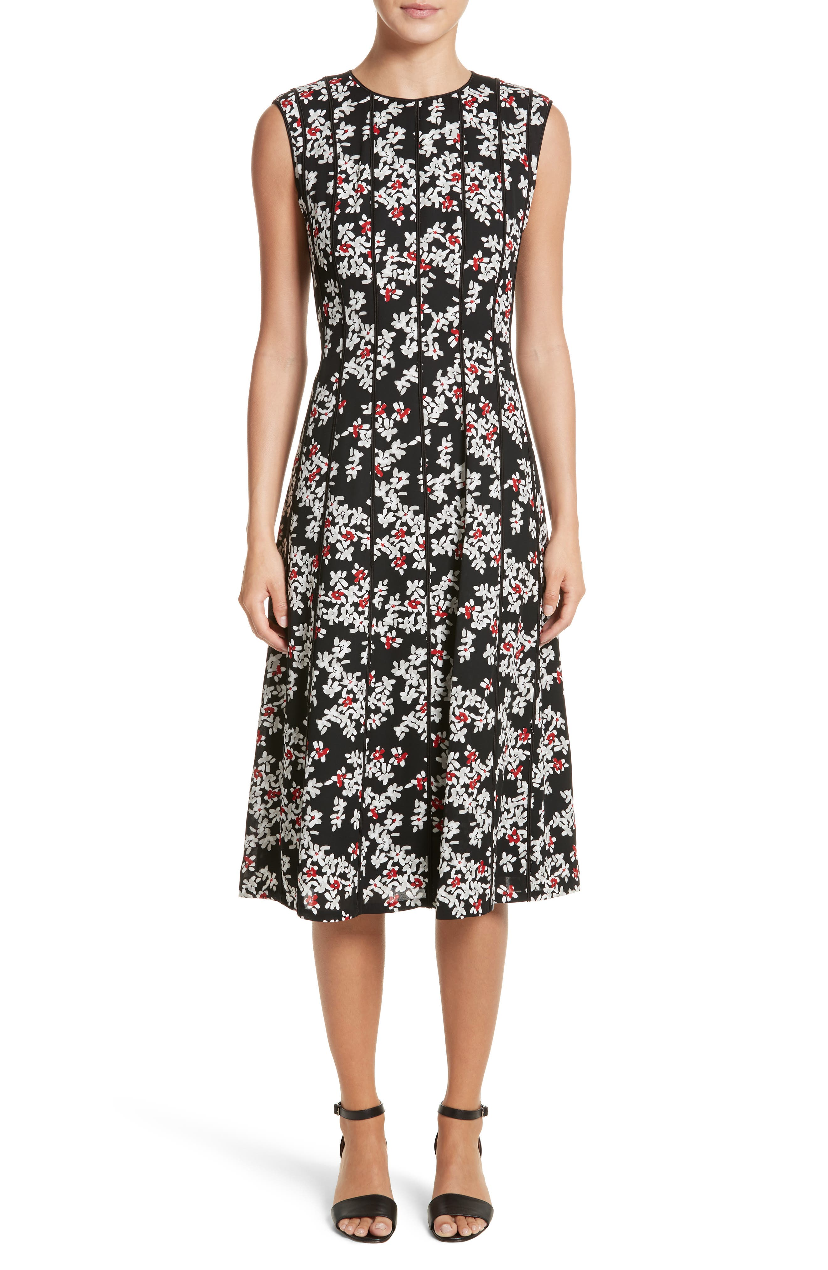 Marley Fresh Floral Drape Cloth Dress,                         Main,                         color,