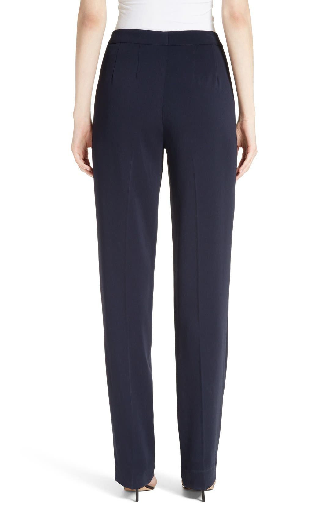 Diana Classic Cady Stretch Pants,                             Alternate thumbnail 6, color,                             NAVY
