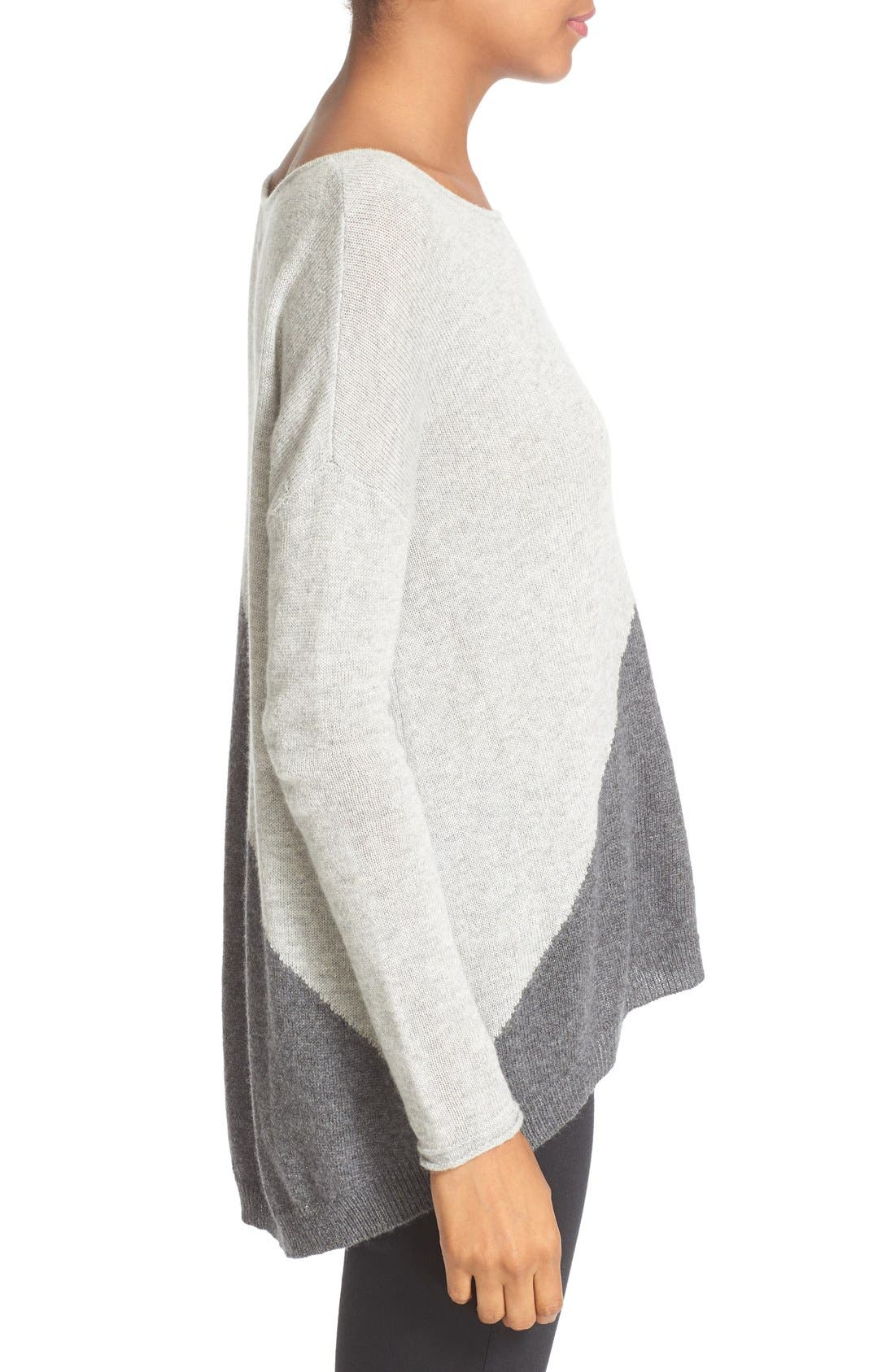 Abbie Colorblock High/Low Pullover,                             Alternate thumbnail 2, color,                             054