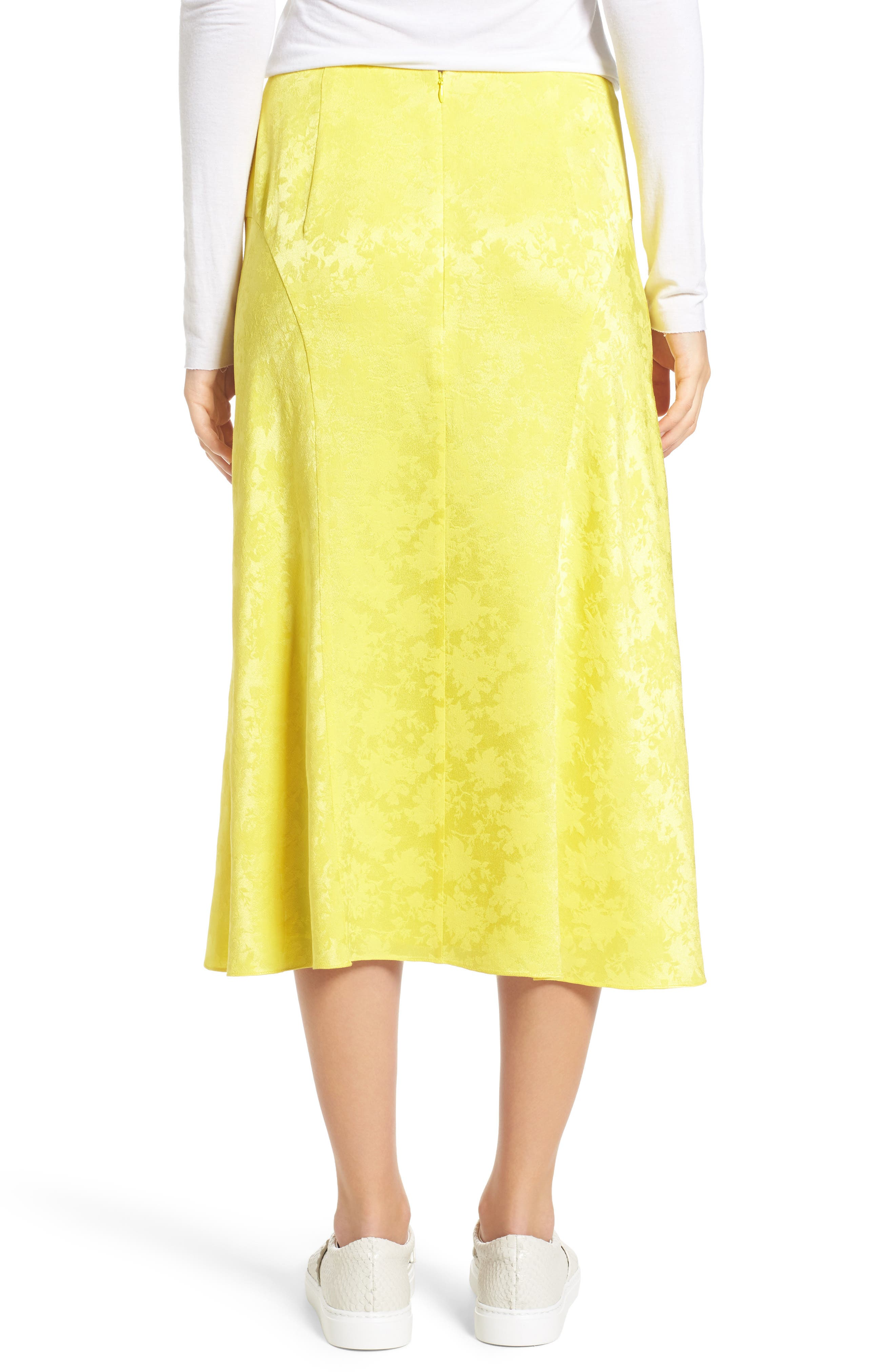 Jacquard Silk Midi Skirt,                             Alternate thumbnail 2, color,                             720