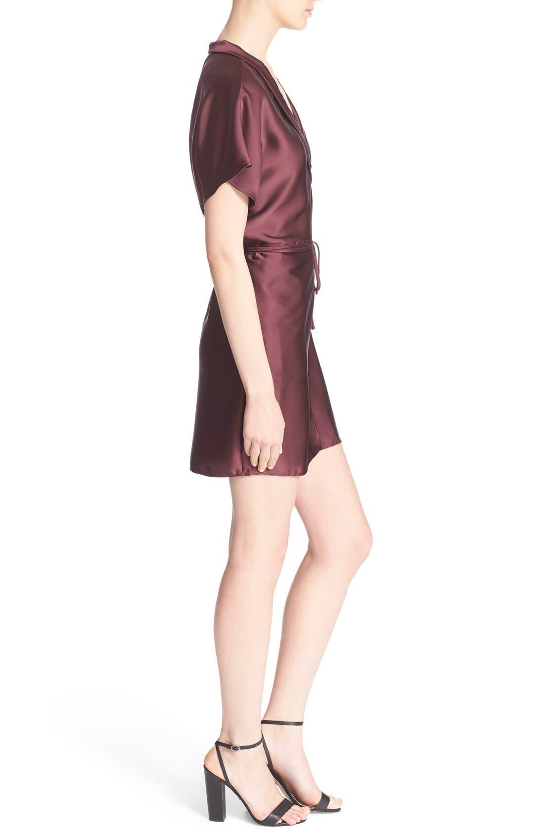 'The Wrap' Short Sleeve Dress,                             Alternate thumbnail 3, color,                             600