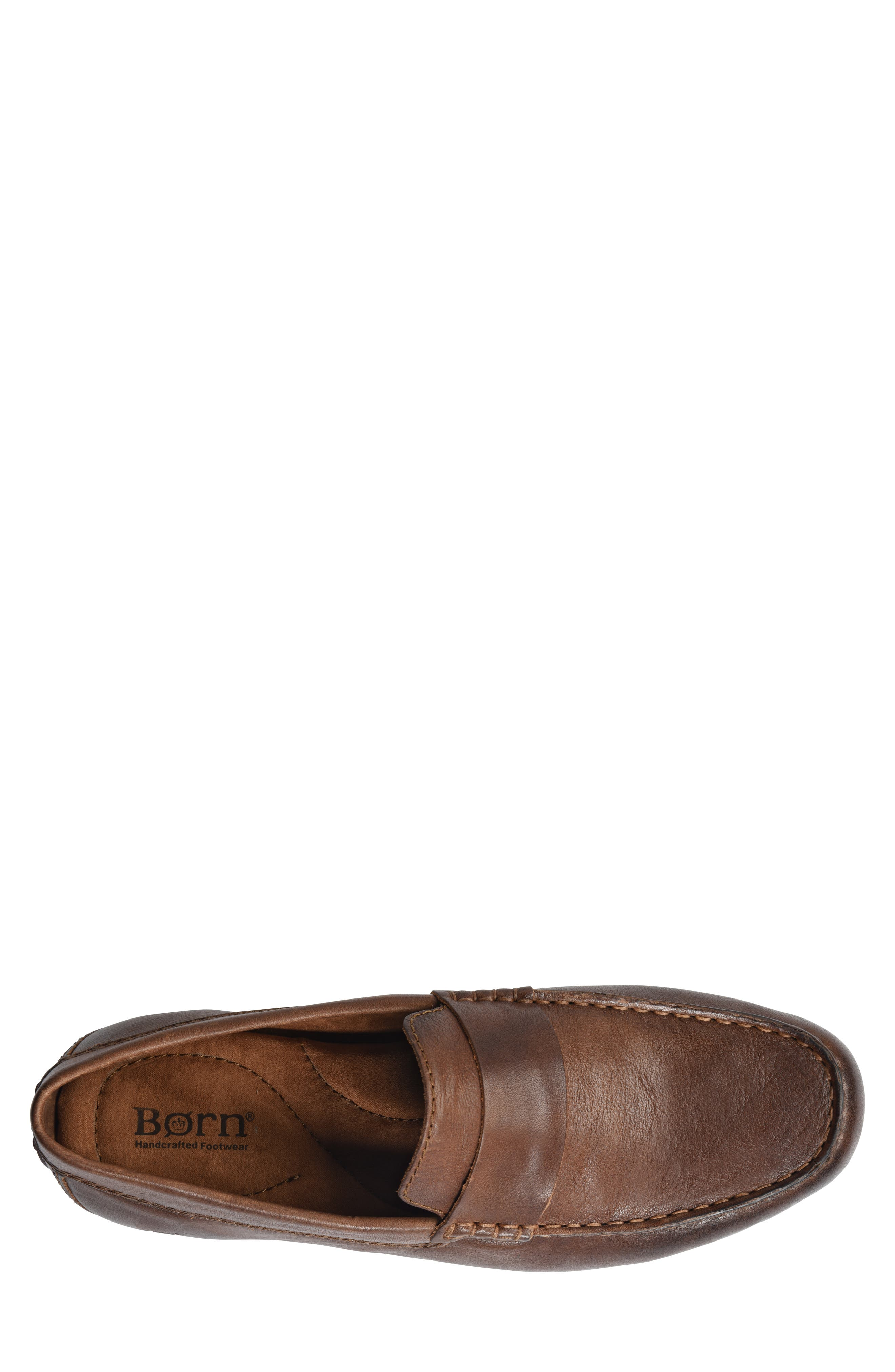 Ratner Driving Loafer,                             Alternate thumbnail 5, color,                             BROWN LEATHER