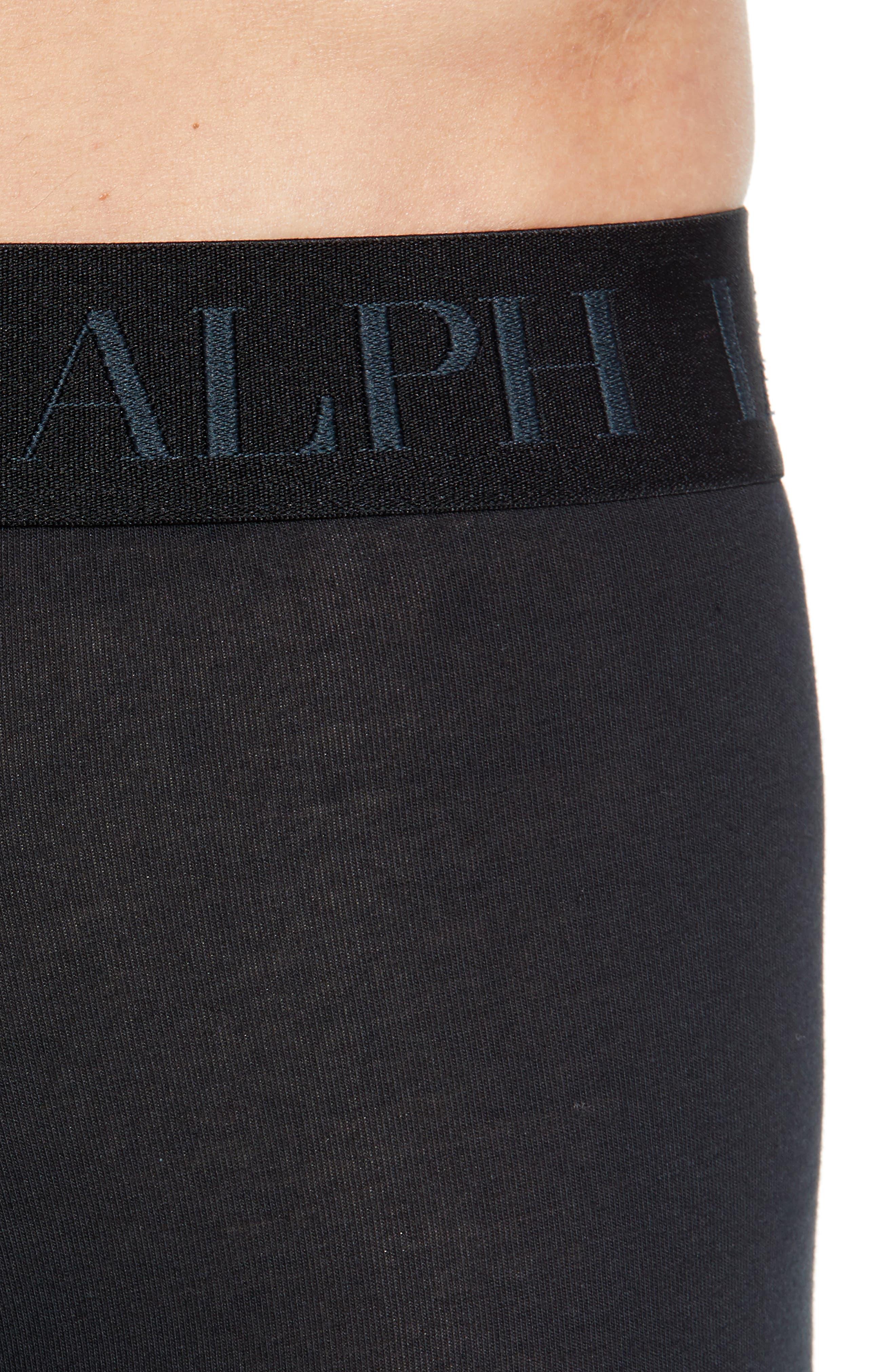 POLO RALPH LAUREN,                             2-Pack Cotton & Modal Boxer Briefs,                             Alternate thumbnail 5, color,                             001