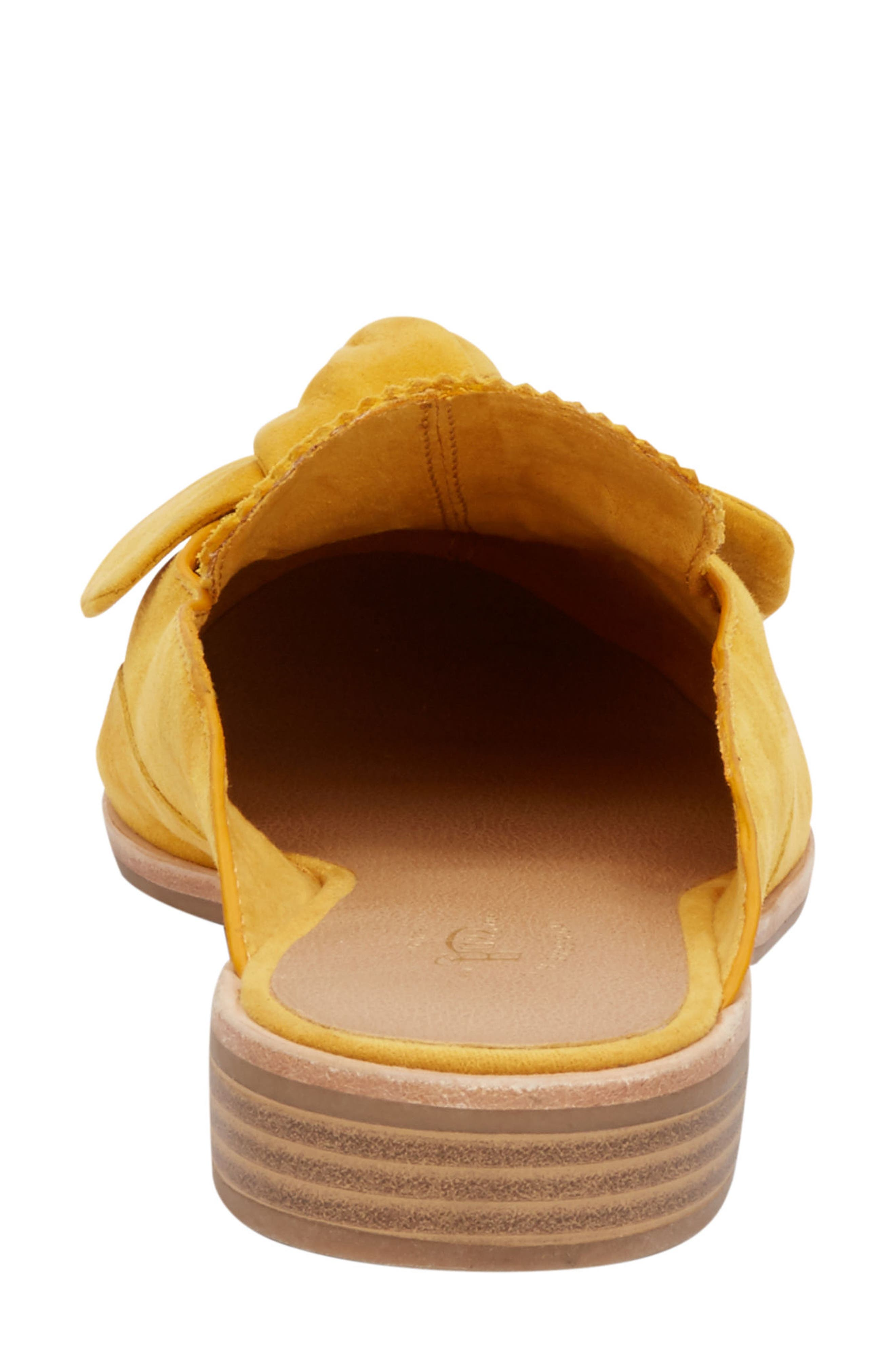 Ebbie Bow Mule,                             Alternate thumbnail 6, color,                             YELLOW SUEDE