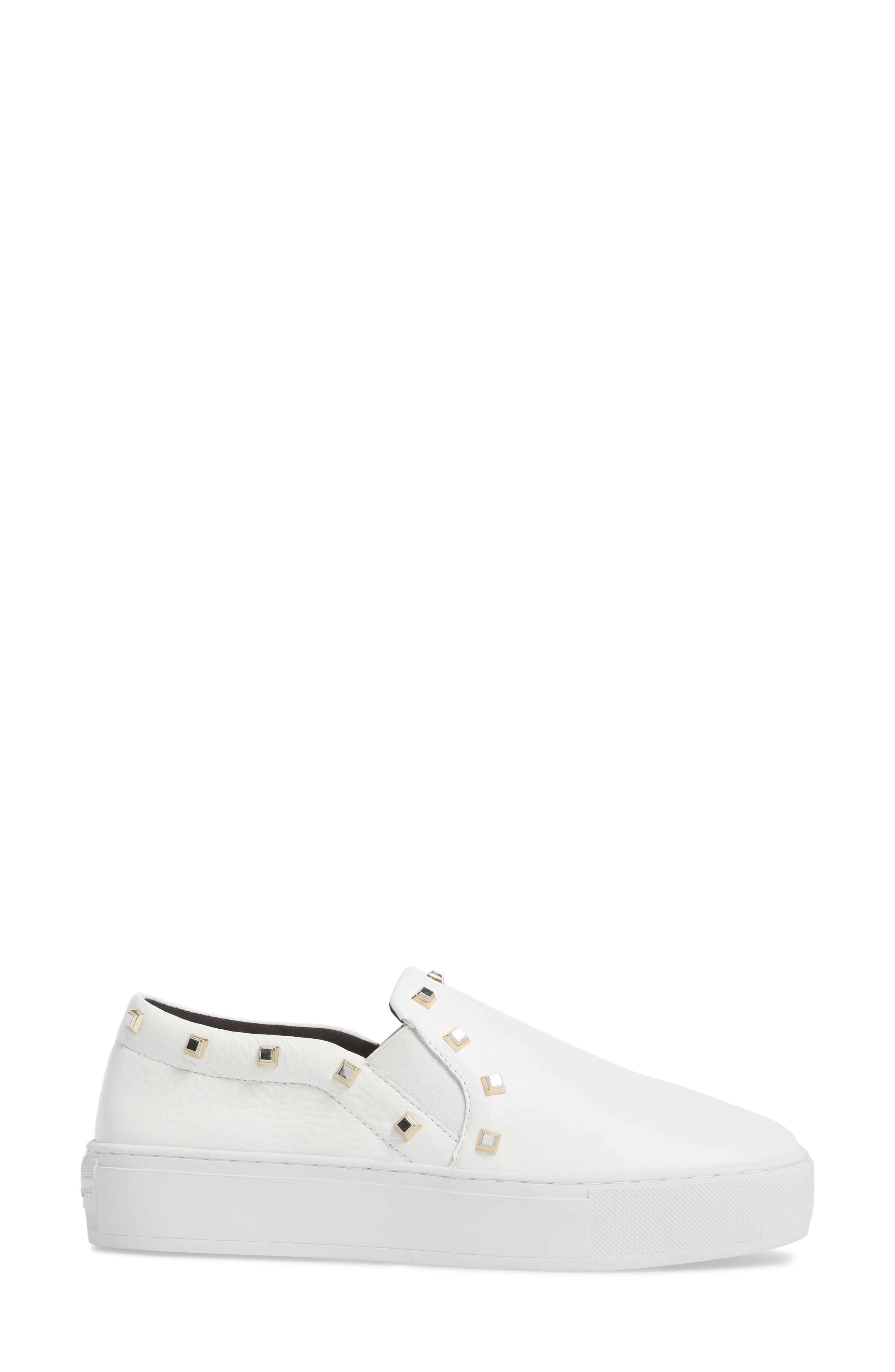 Nora Stud Platform Sneaker,                             Alternate thumbnail 6, color,