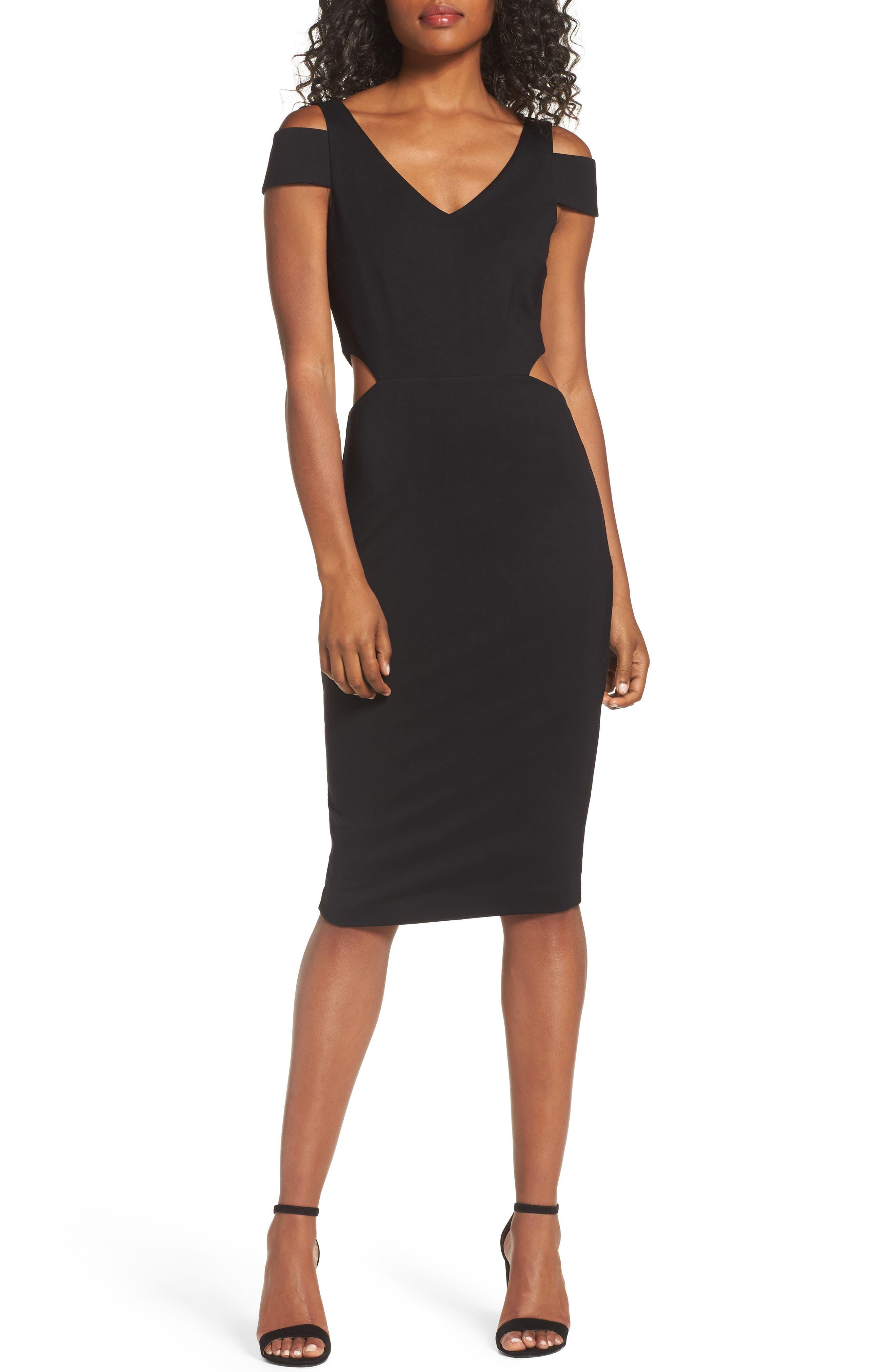 Ponte Body-Con Dress,                             Main thumbnail 1, color,                             001