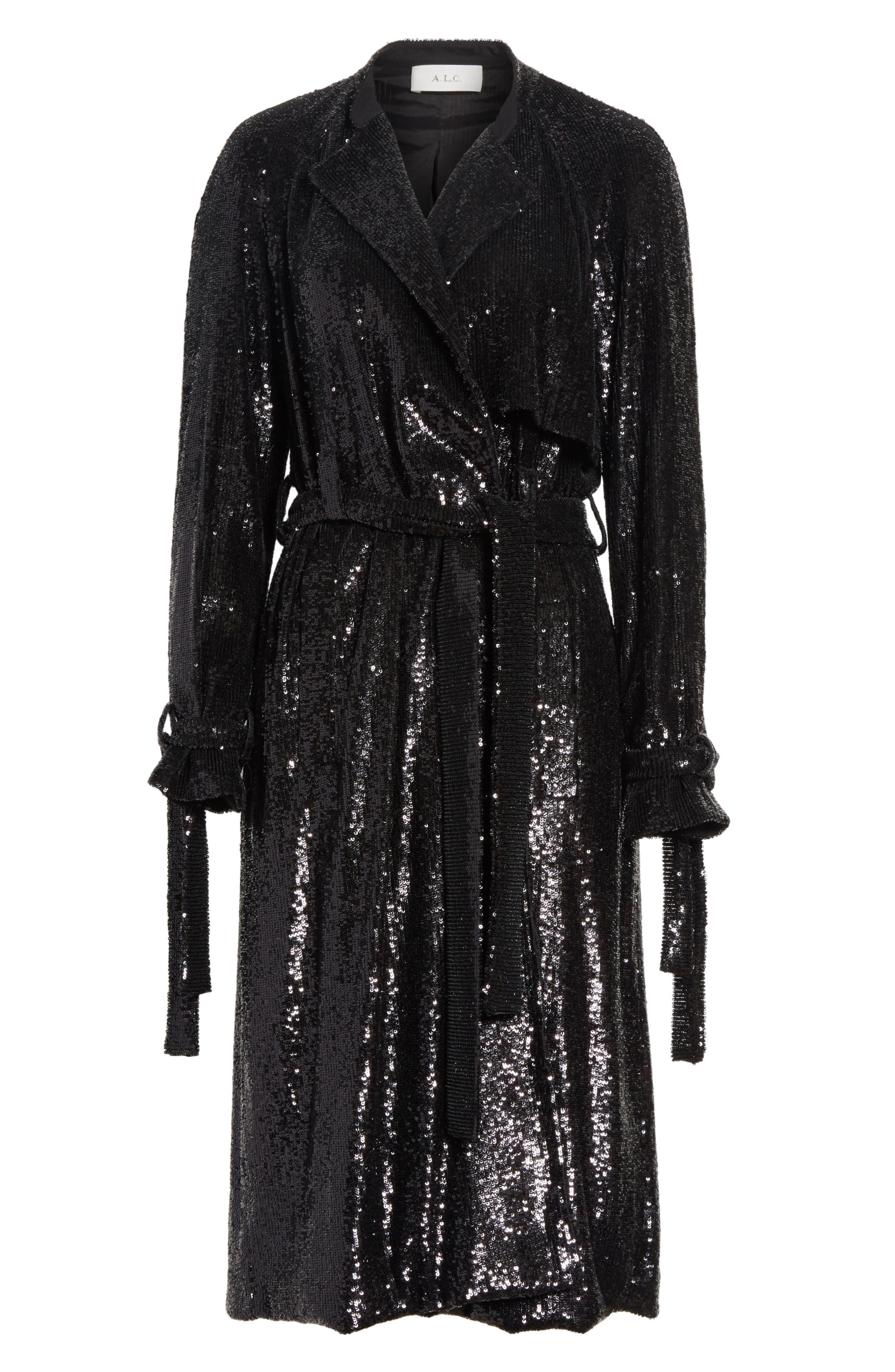 Holloway Sequin Coat,                             Alternate thumbnail 5, color,                             001
