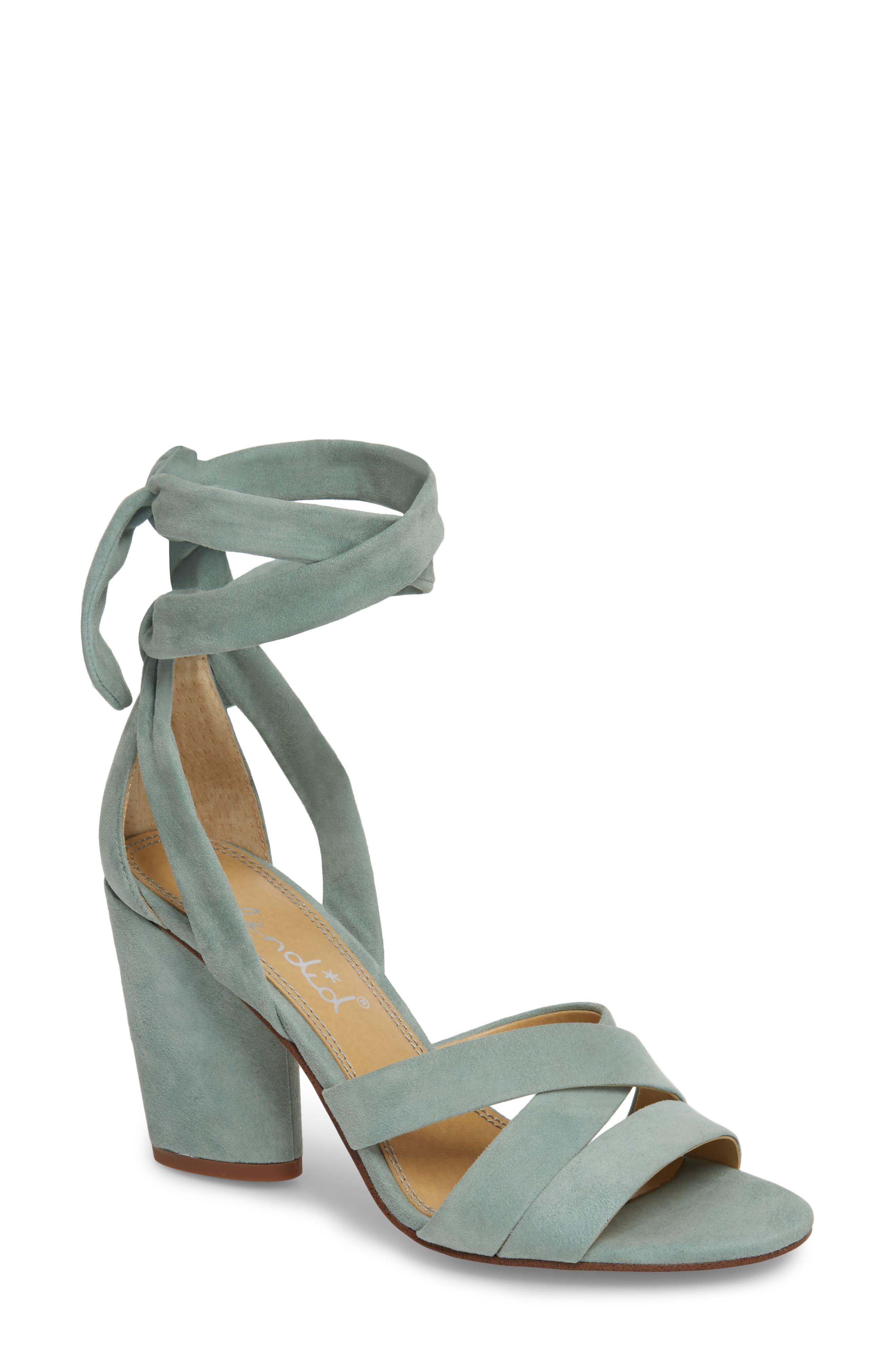 Splendid Fergie Lace-Up Sandal, Green