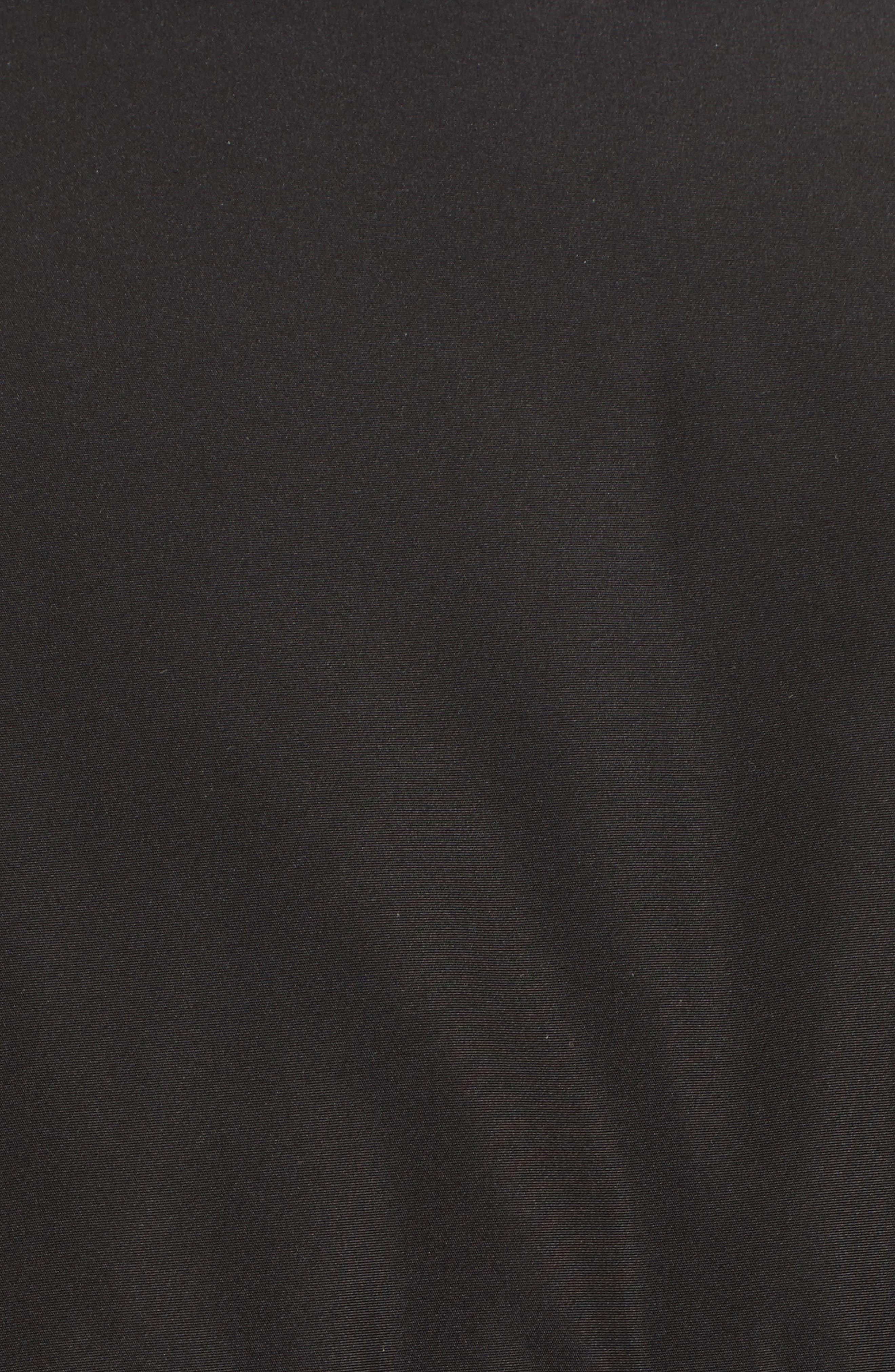 Eldridge Puffer Coat with Genuine Shearling Sleeves,                             Alternate thumbnail 6, color,                             001