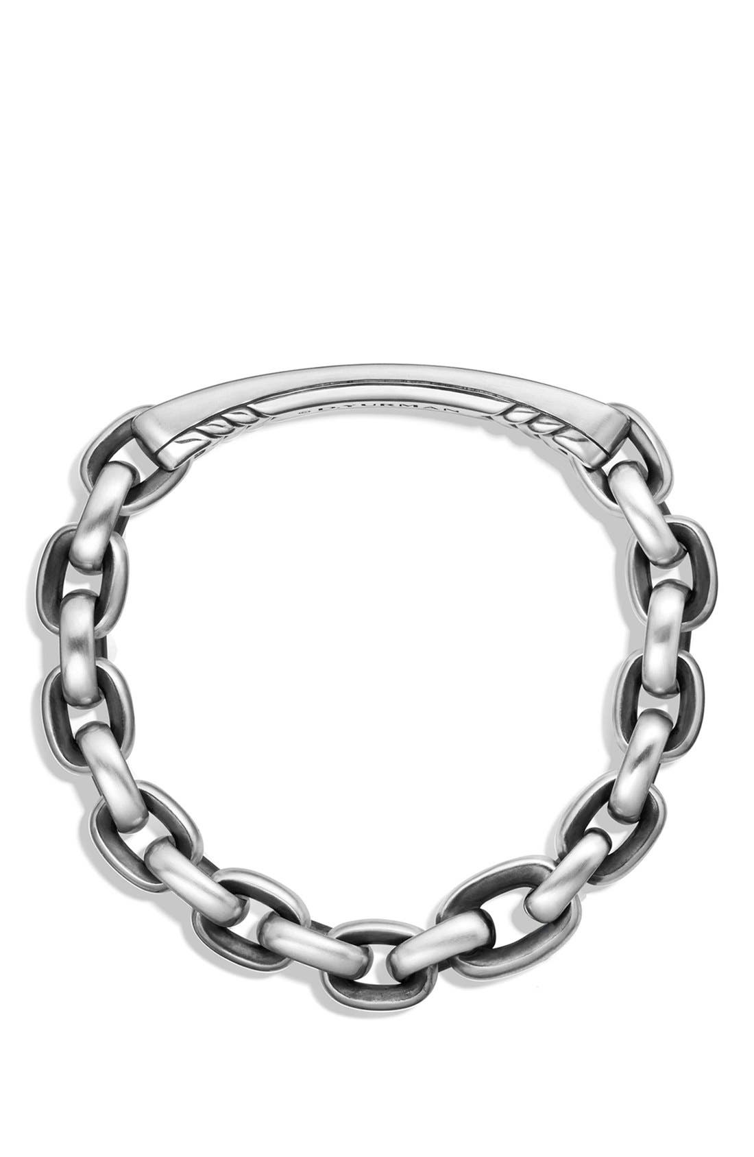 'Streamline' ID Bracelet,                             Alternate thumbnail 3, color,                             SILVER
