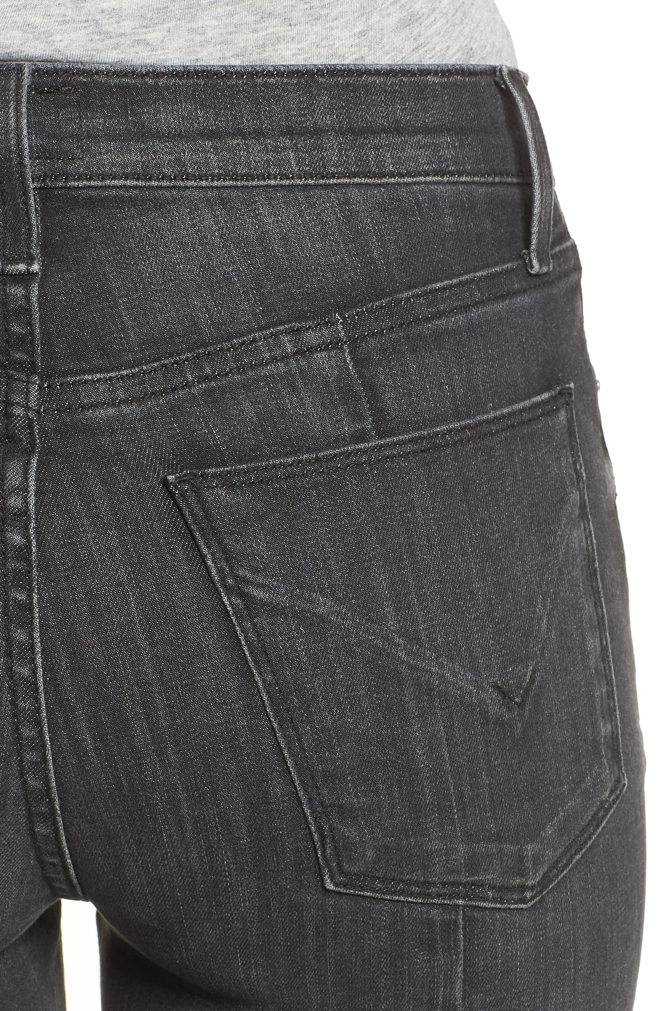 Holly High Waist Crop Flare Jeans,                             Alternate thumbnail 4, color,                             REAL WORLD