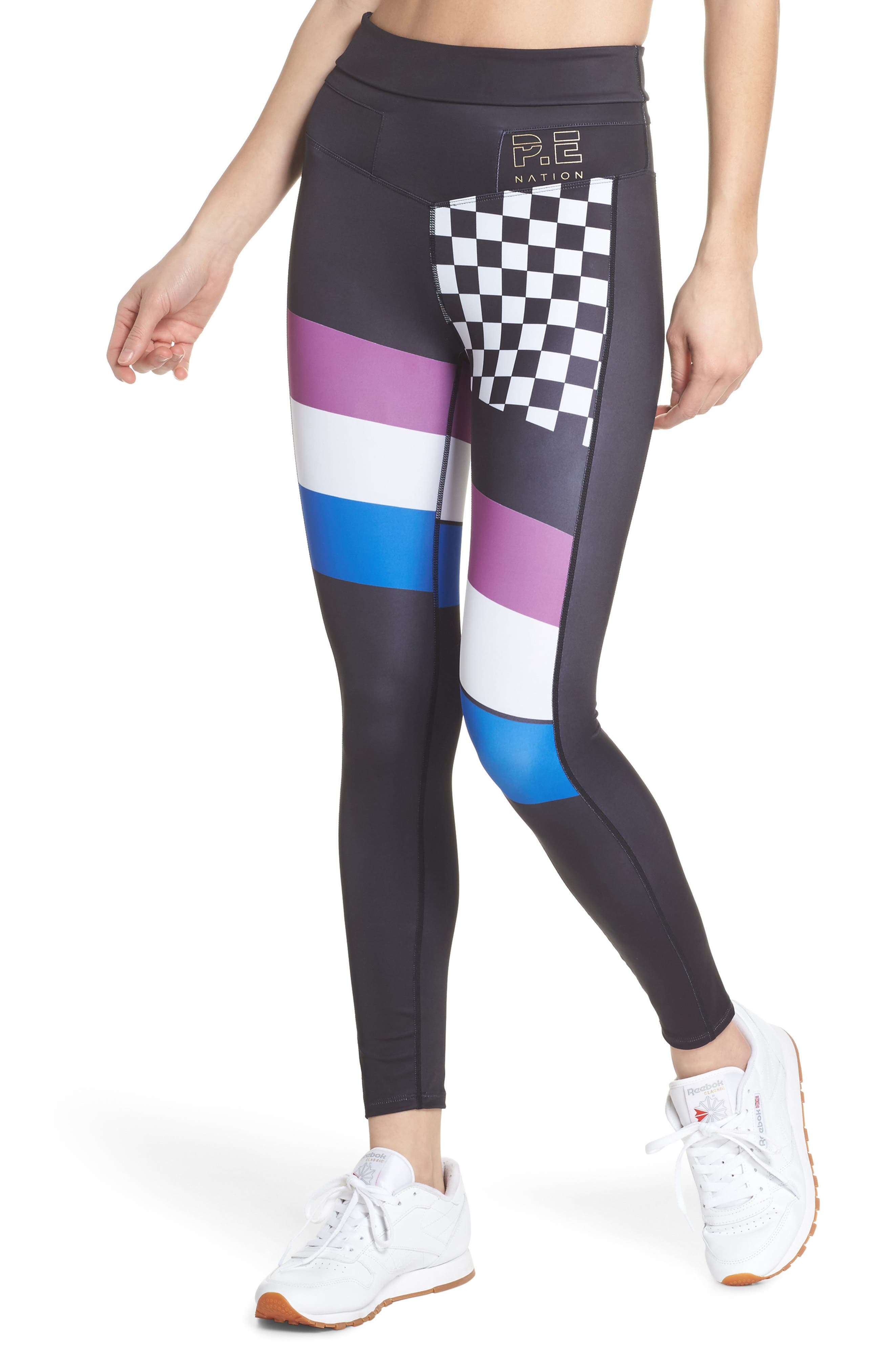 The Check Hook Leggings,                         Main,                         color, 001