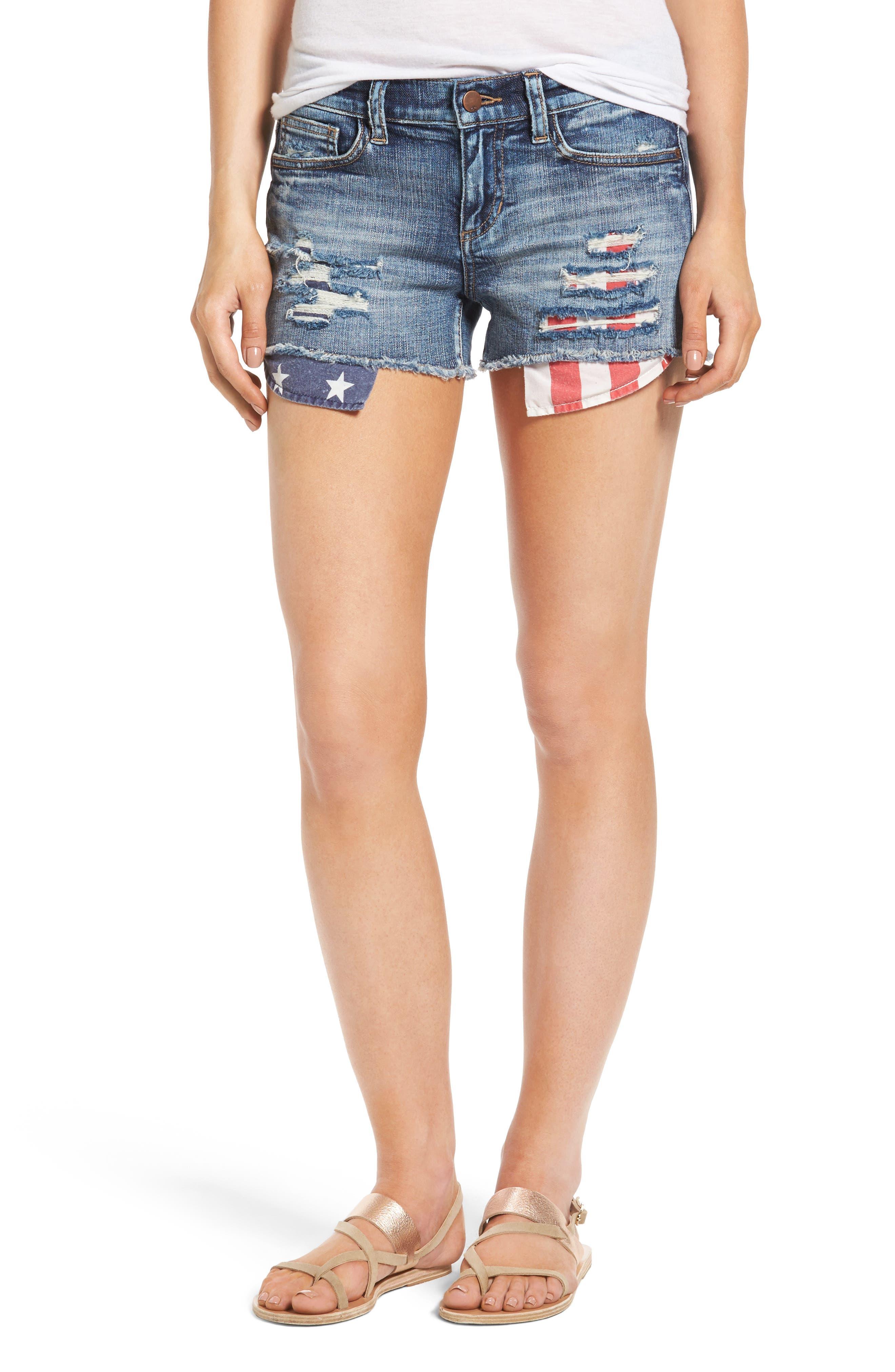 Stars & Sripes Denim Shorts,                         Main,                         color, 420