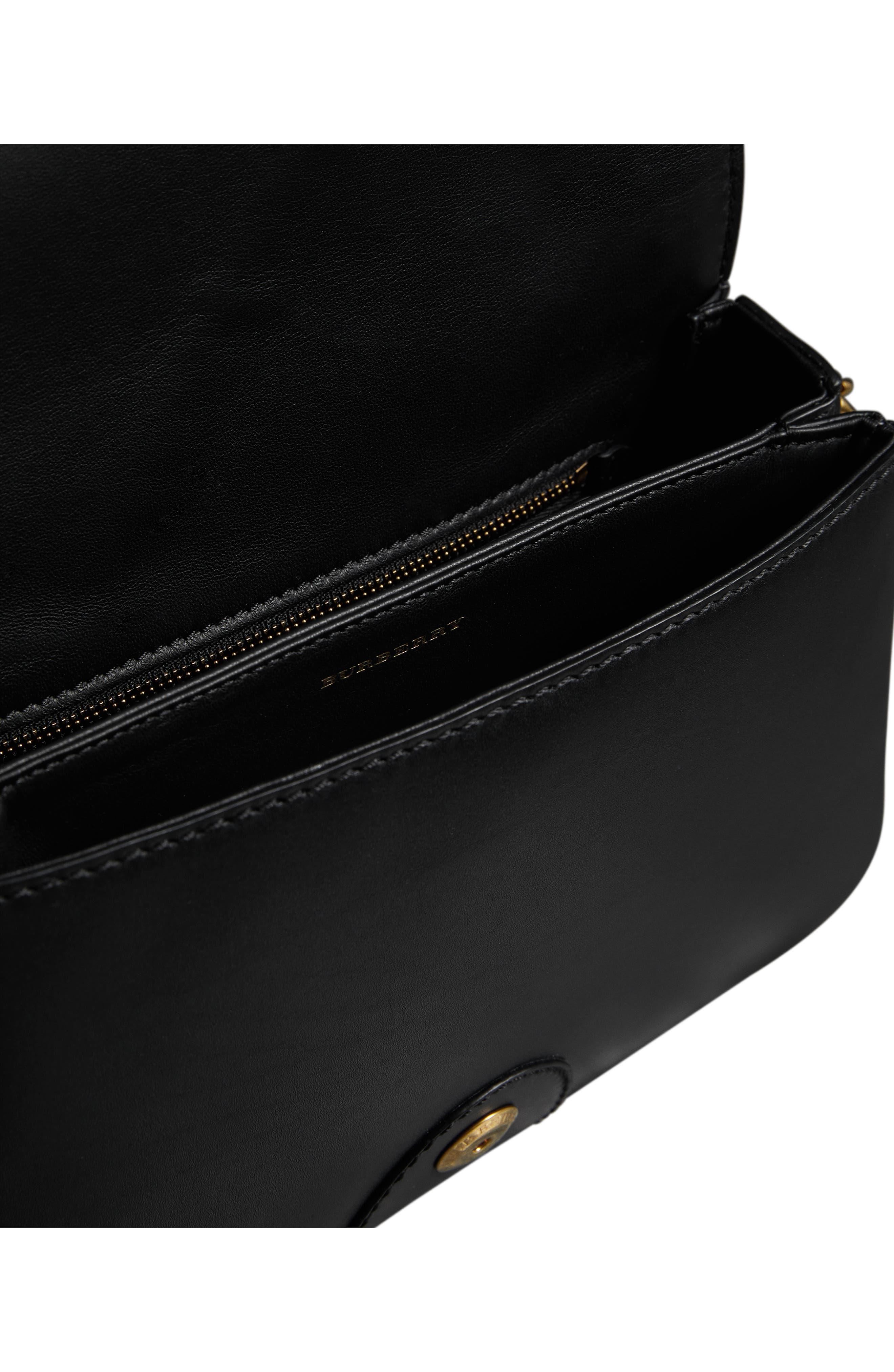 Rainbow Stripe Link Flap Leather Crossbody Bag,                             Alternate thumbnail 3, color,                             001