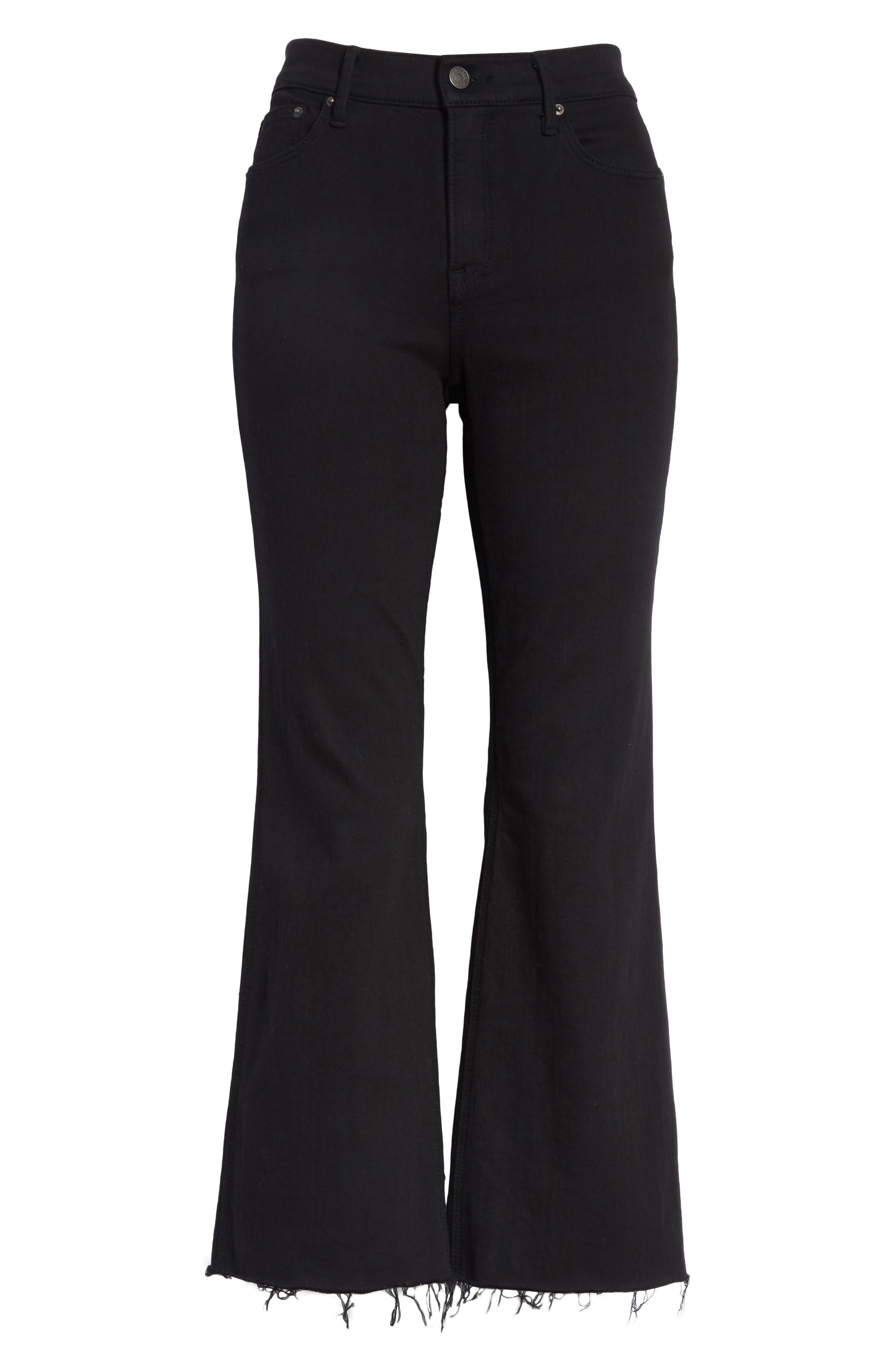 Joan Crop Flare Jeans,                             Alternate thumbnail 7, color,                             001