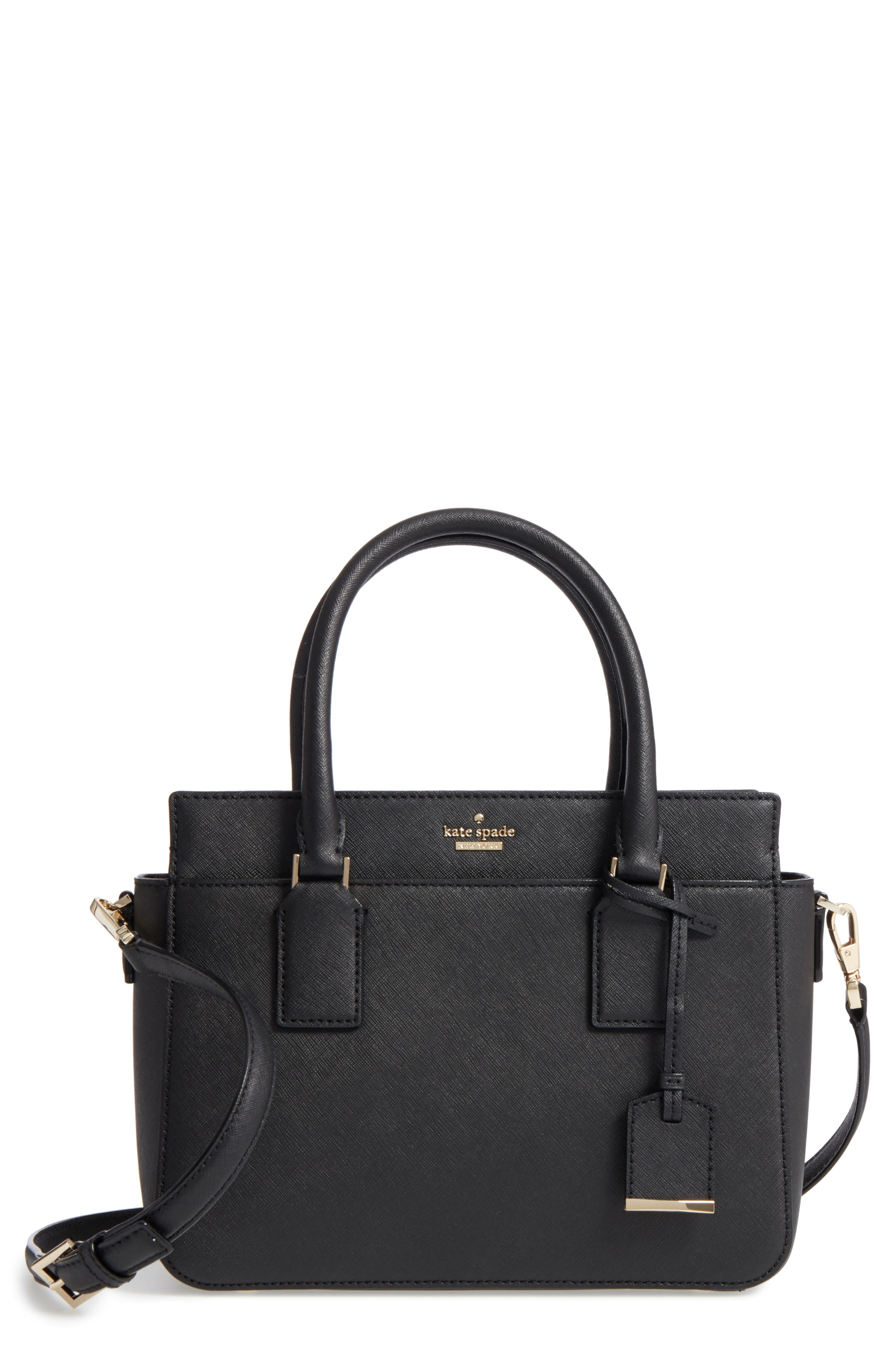 cameron street - small sally leather satchel,                         Main,                         color, 001