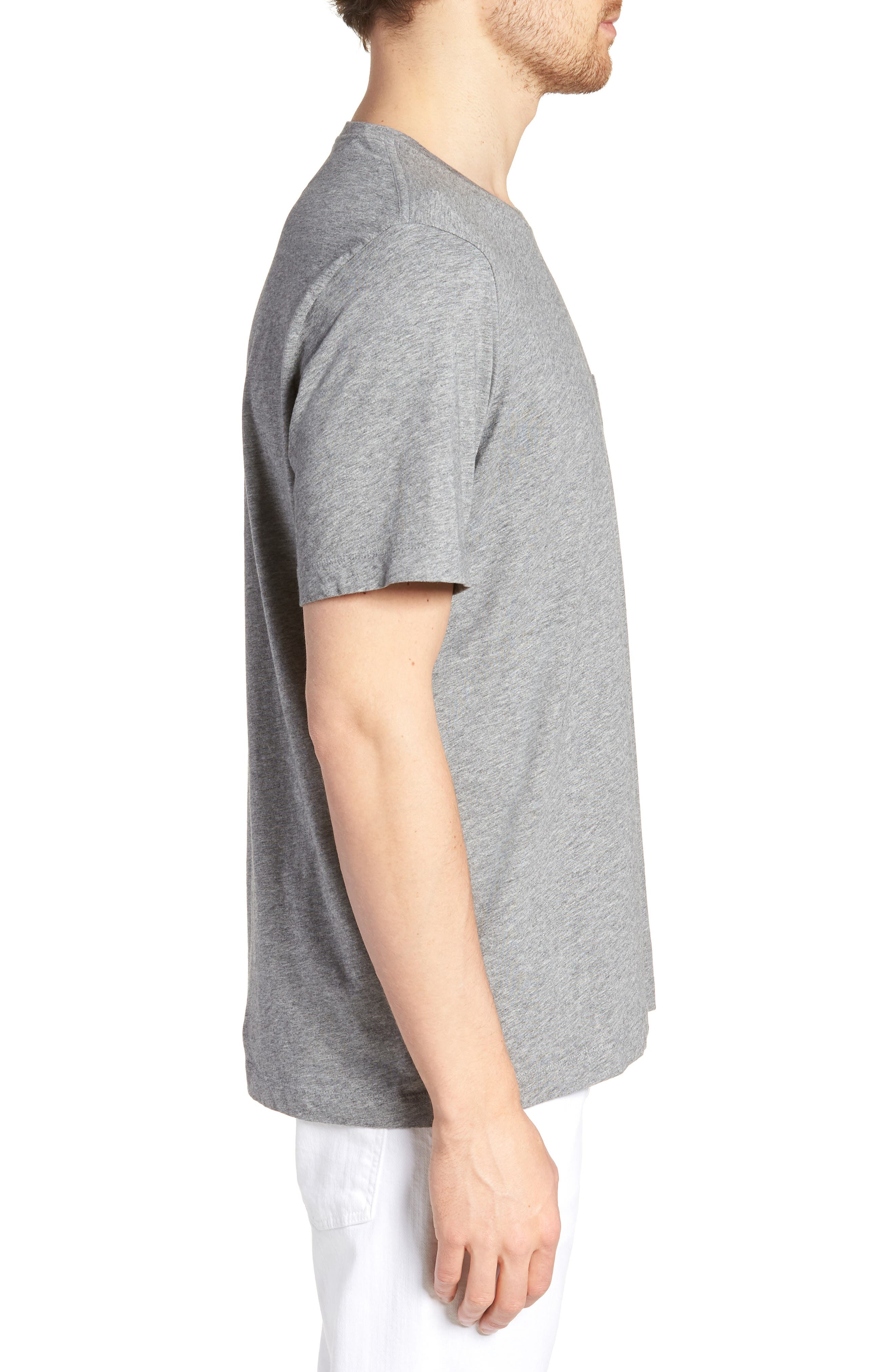 Brushed Pima Cotton T-Shirt,                             Alternate thumbnail 3, color,                             030