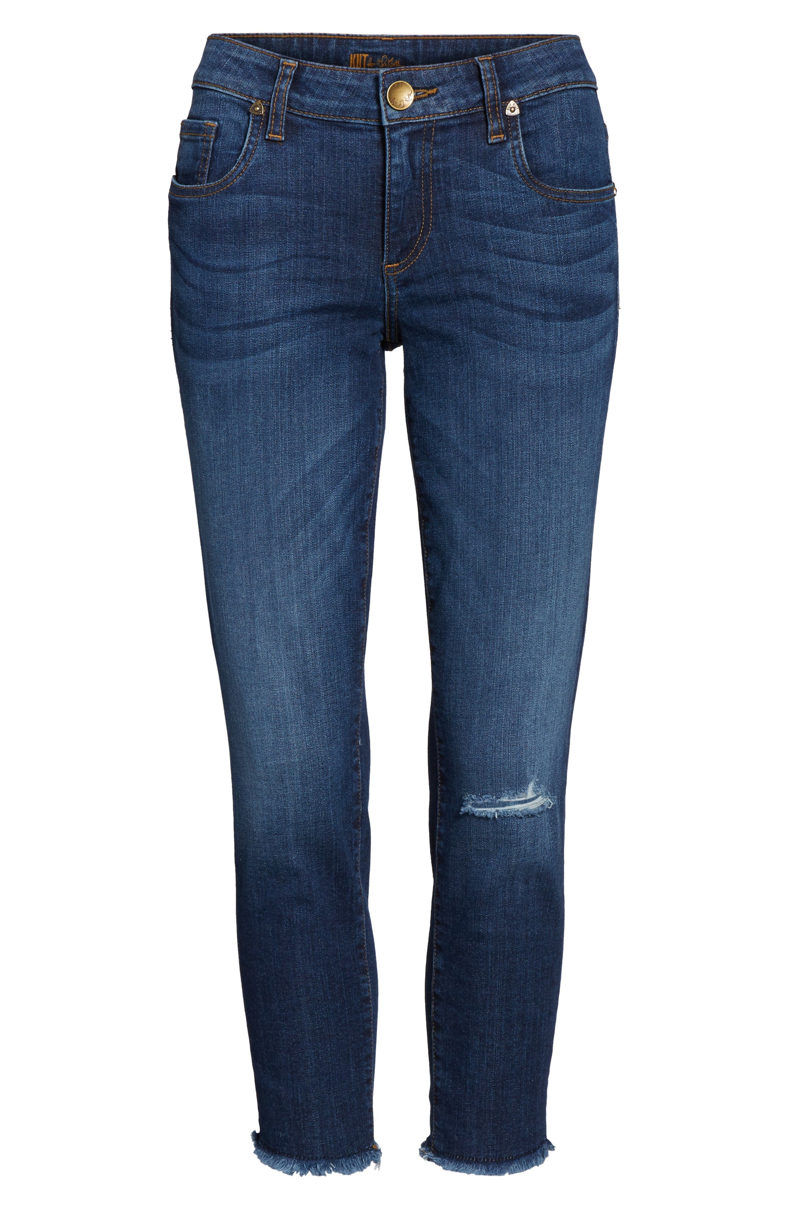 Donna Ripped Crop Jeans,                             Alternate thumbnail 6, color,                             415