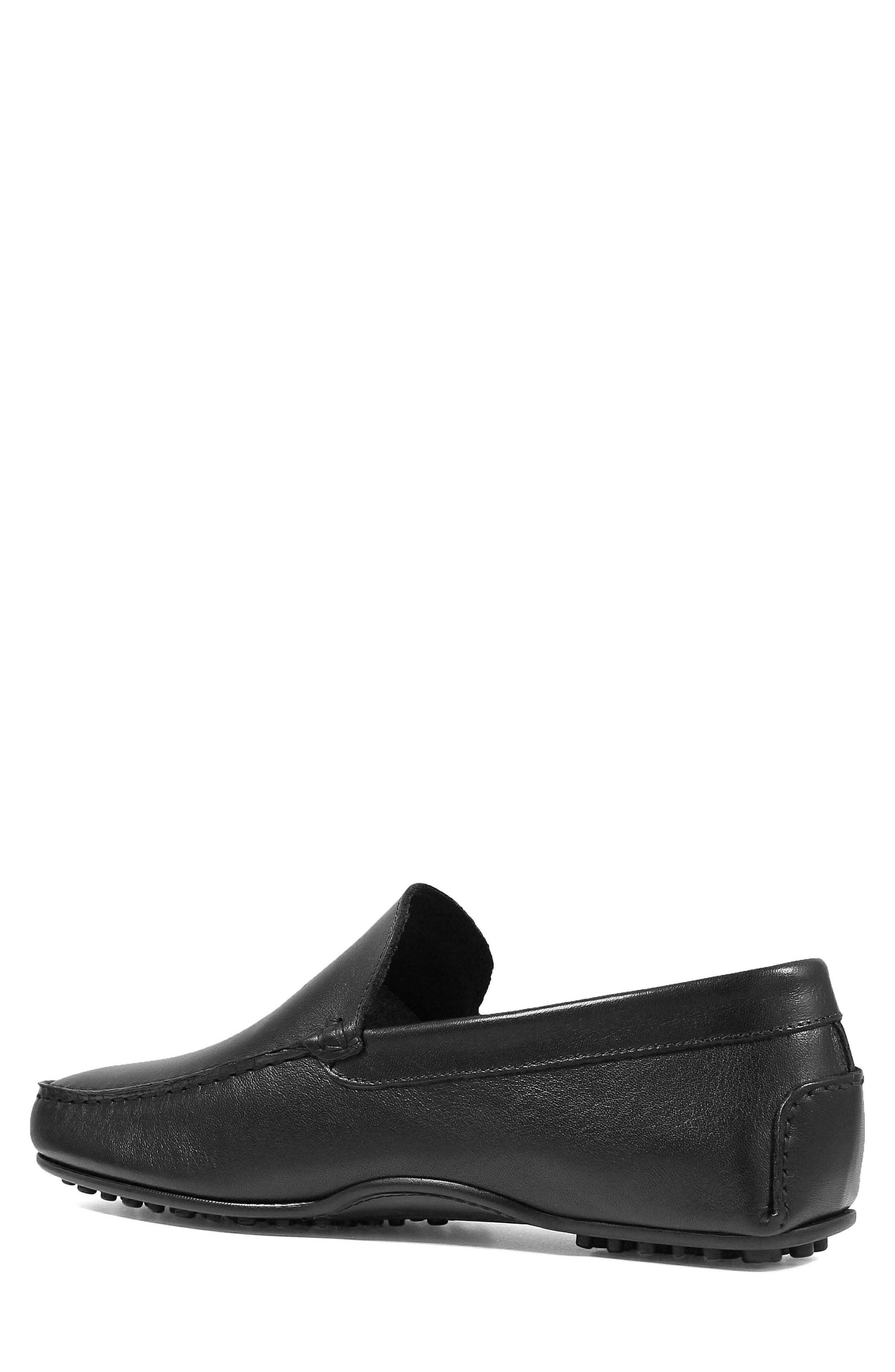 Navono Driving Moccasin,                             Alternate thumbnail 2, color,                             BLACK LEATHER