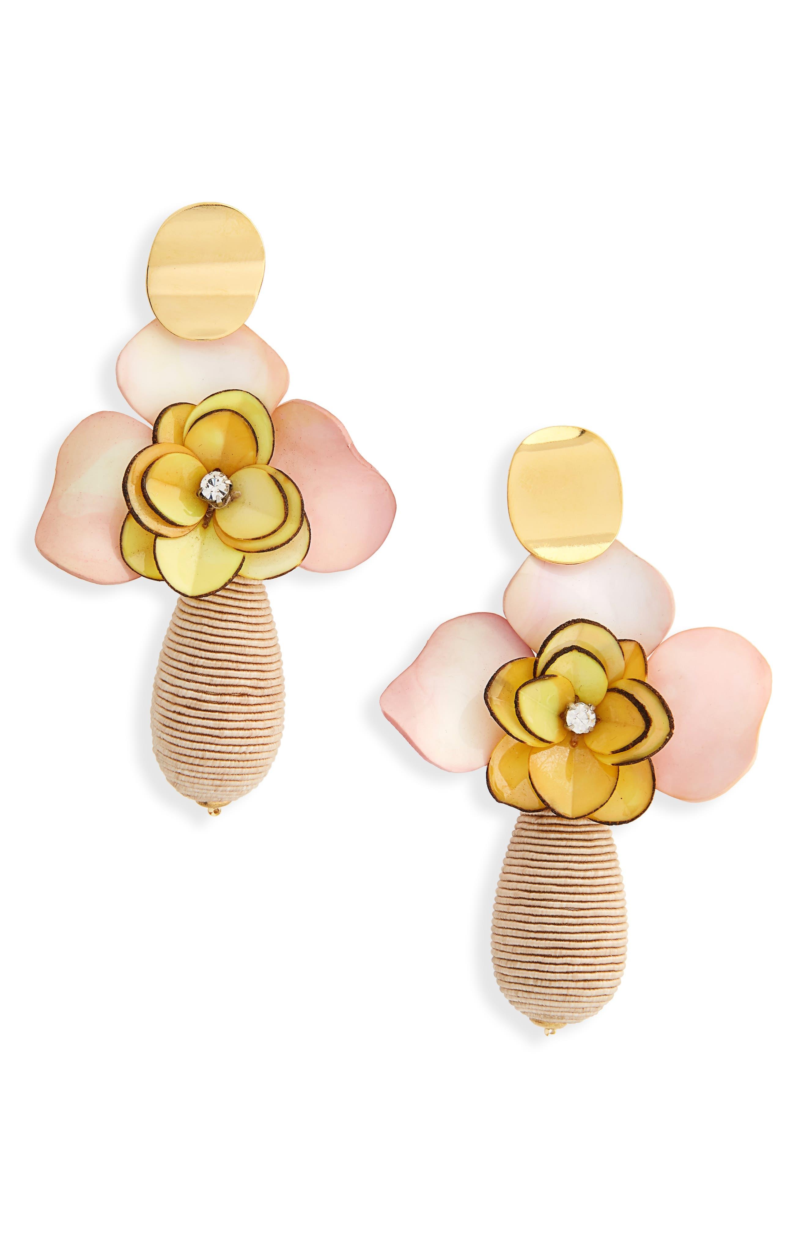 Magnolia Drop Earrings,                         Main,                         color, 250