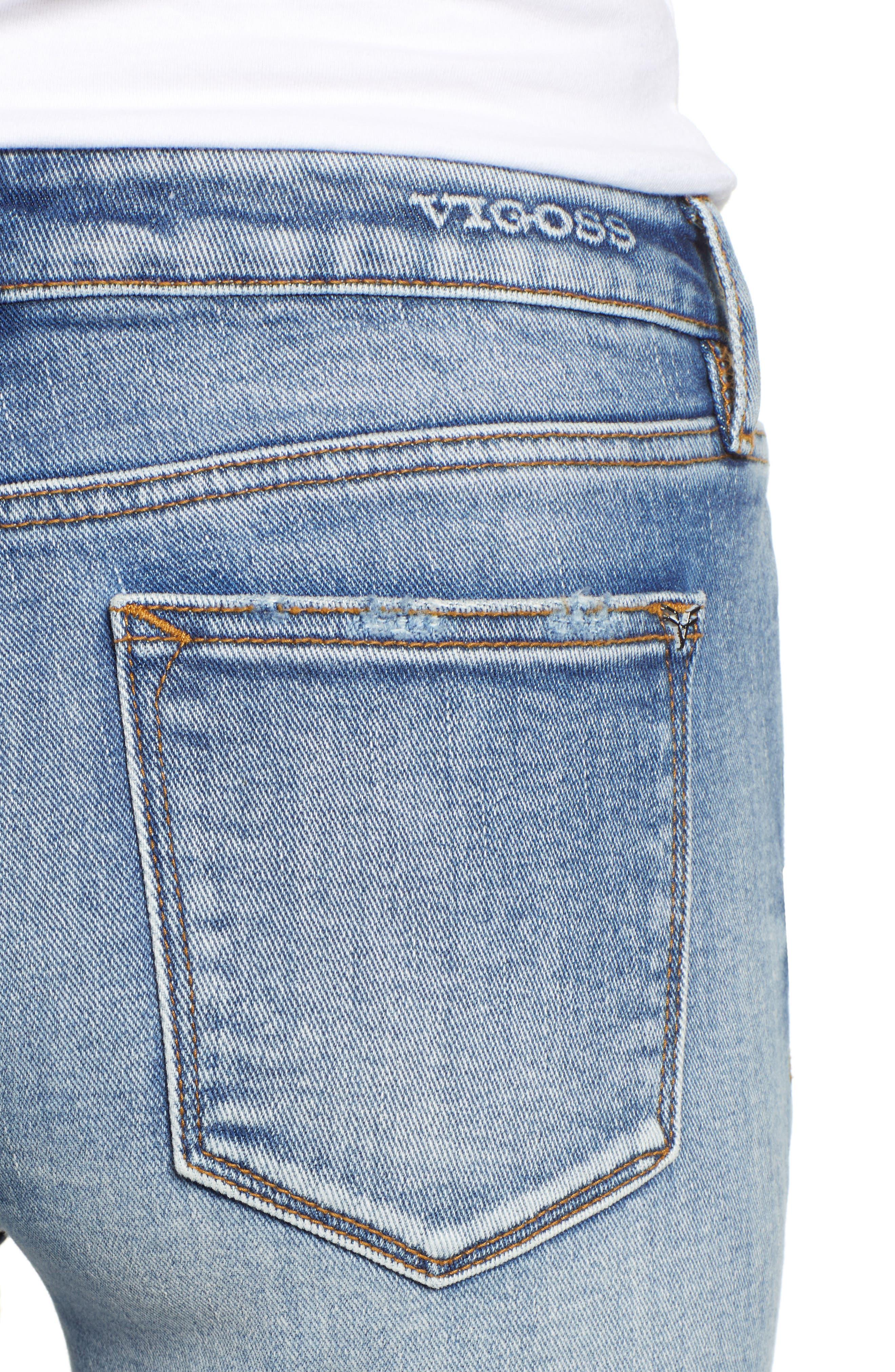 VIGOSS,                             Jagger Ripped Skinny Jeans,                             Alternate thumbnail 4, color,                             LIGHT WASH