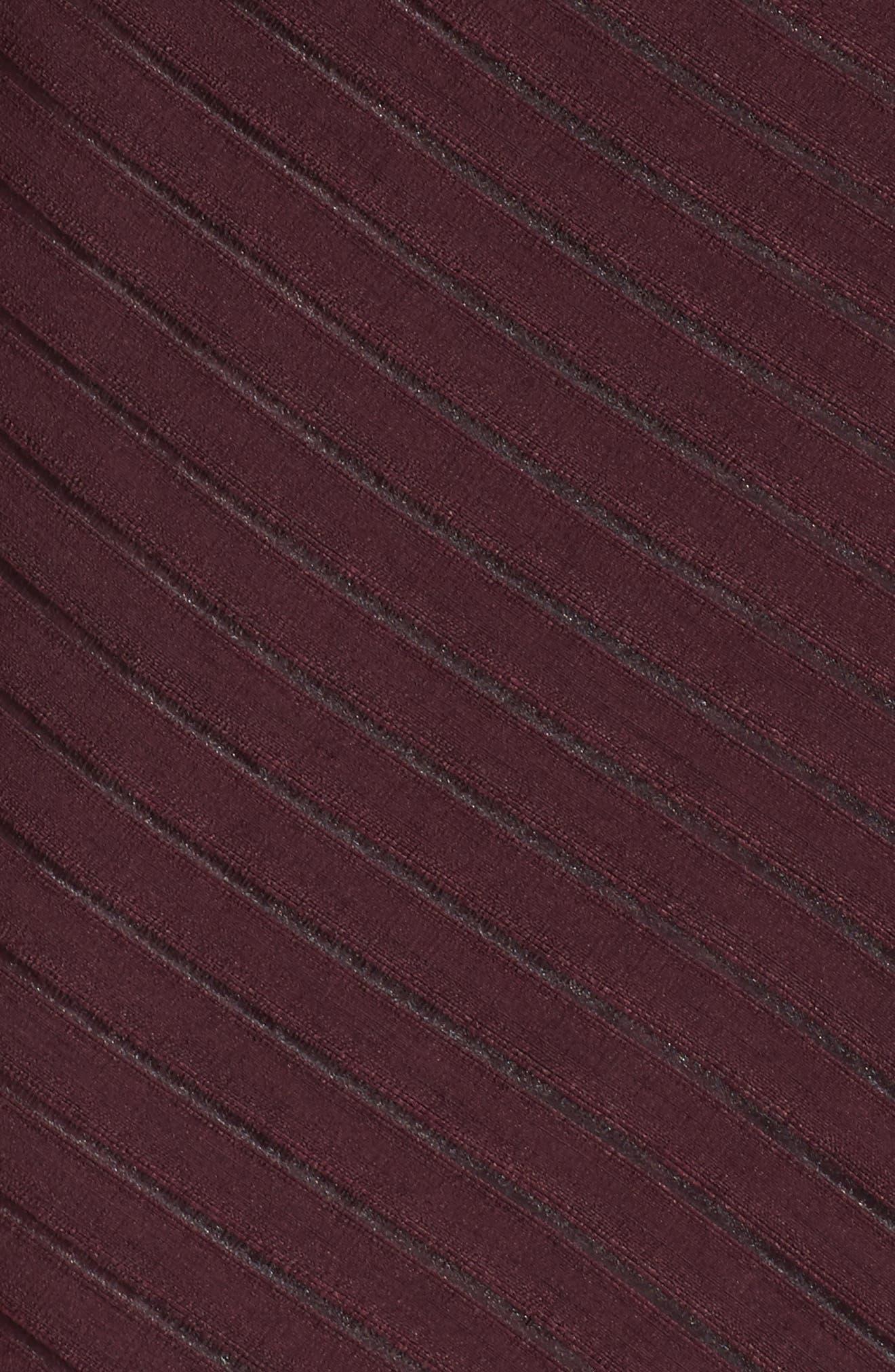 Shadow Stripe Wrap Dress,                             Alternate thumbnail 5, color,                             930