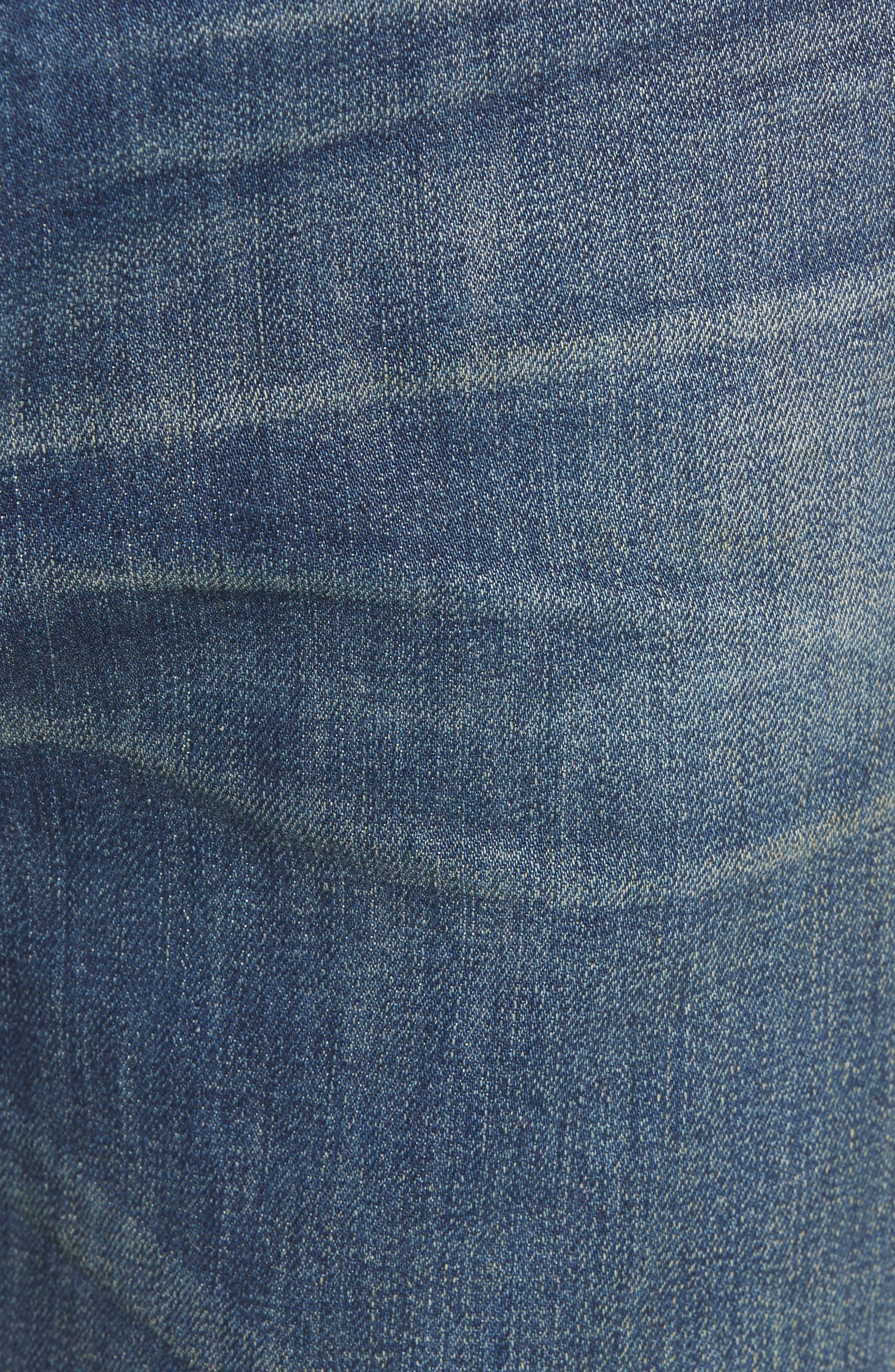 TREASURE & BOND,                             Slim Fit Jeans,                             Alternate thumbnail 5, color,                             BLUE MED VINTAGE WASH