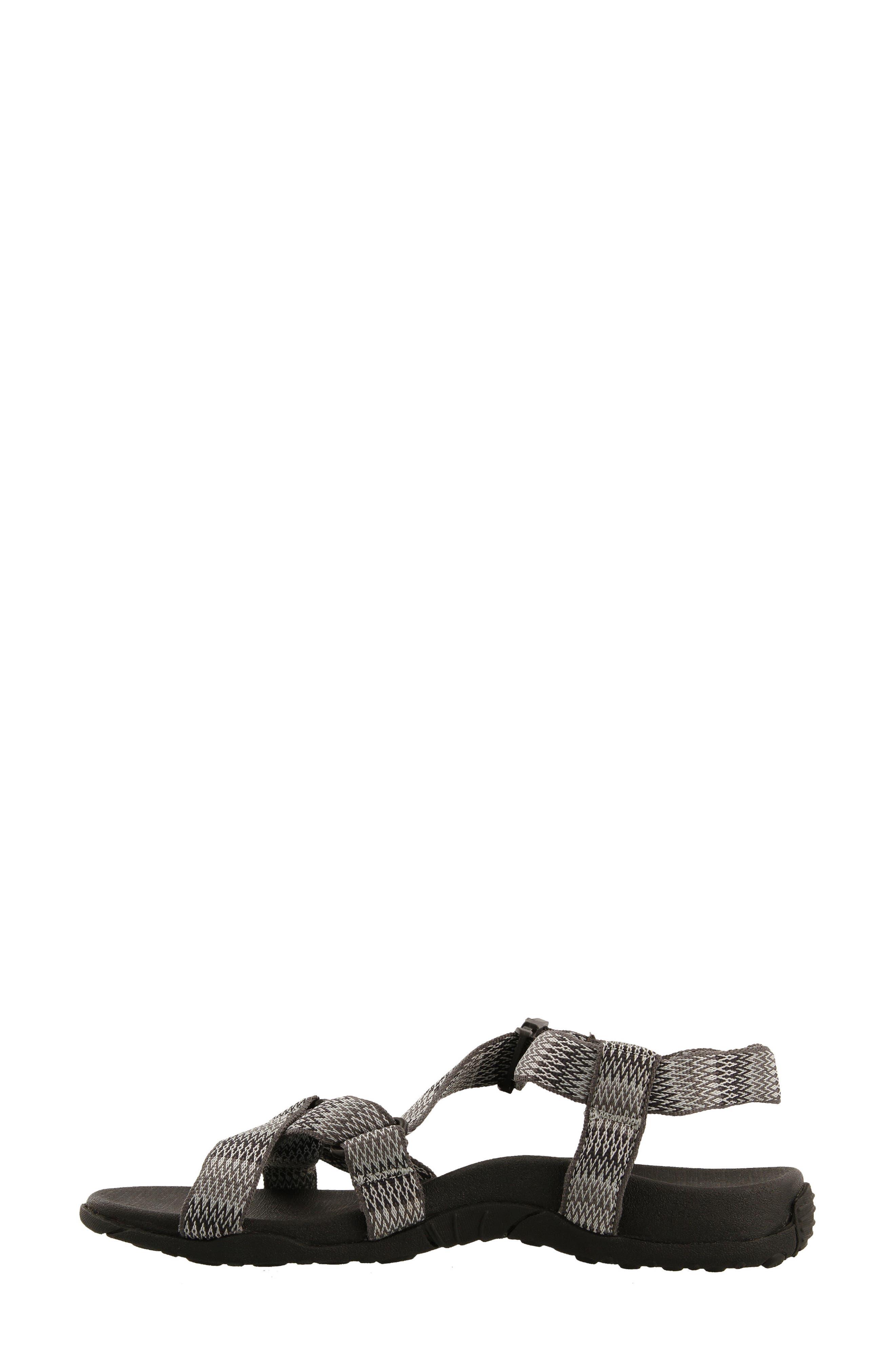 New Wave Sandal,                             Alternate thumbnail 5, color,                             BLACK FABRIC