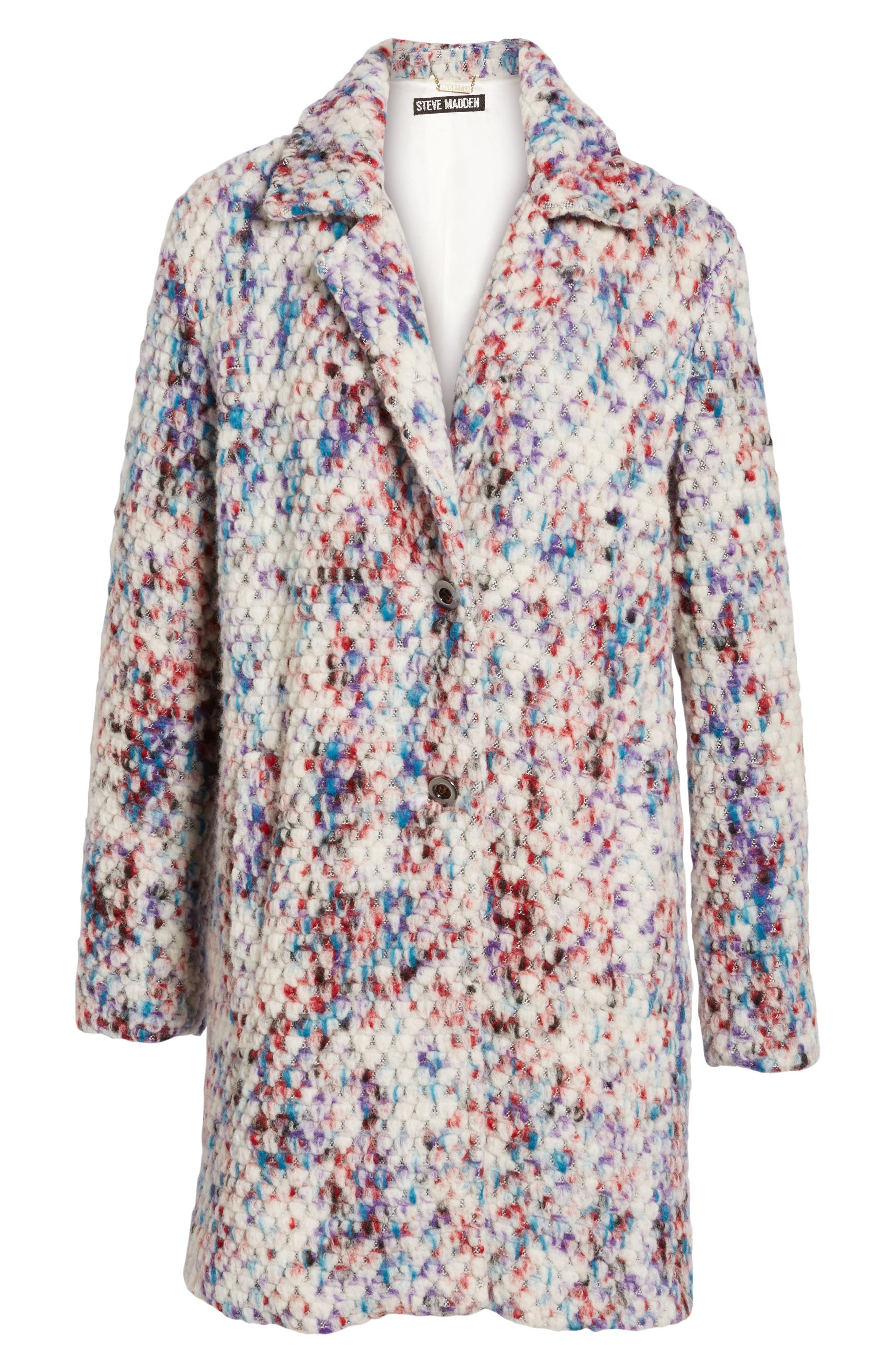 Confetti Wool Blend Coat,                             Alternate thumbnail 5, color,                             560