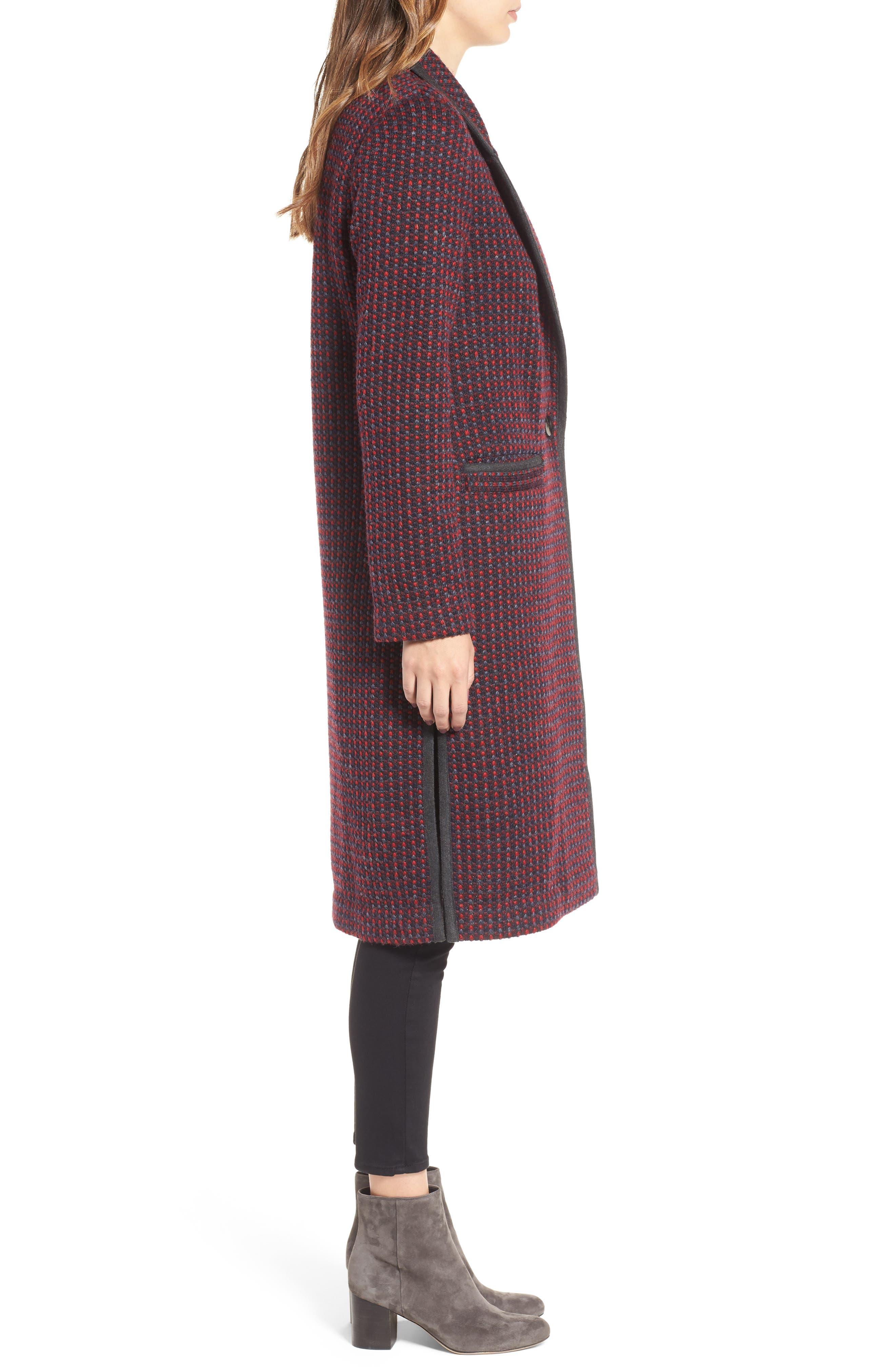 Tweed Coat,                             Alternate thumbnail 3, color,                             610