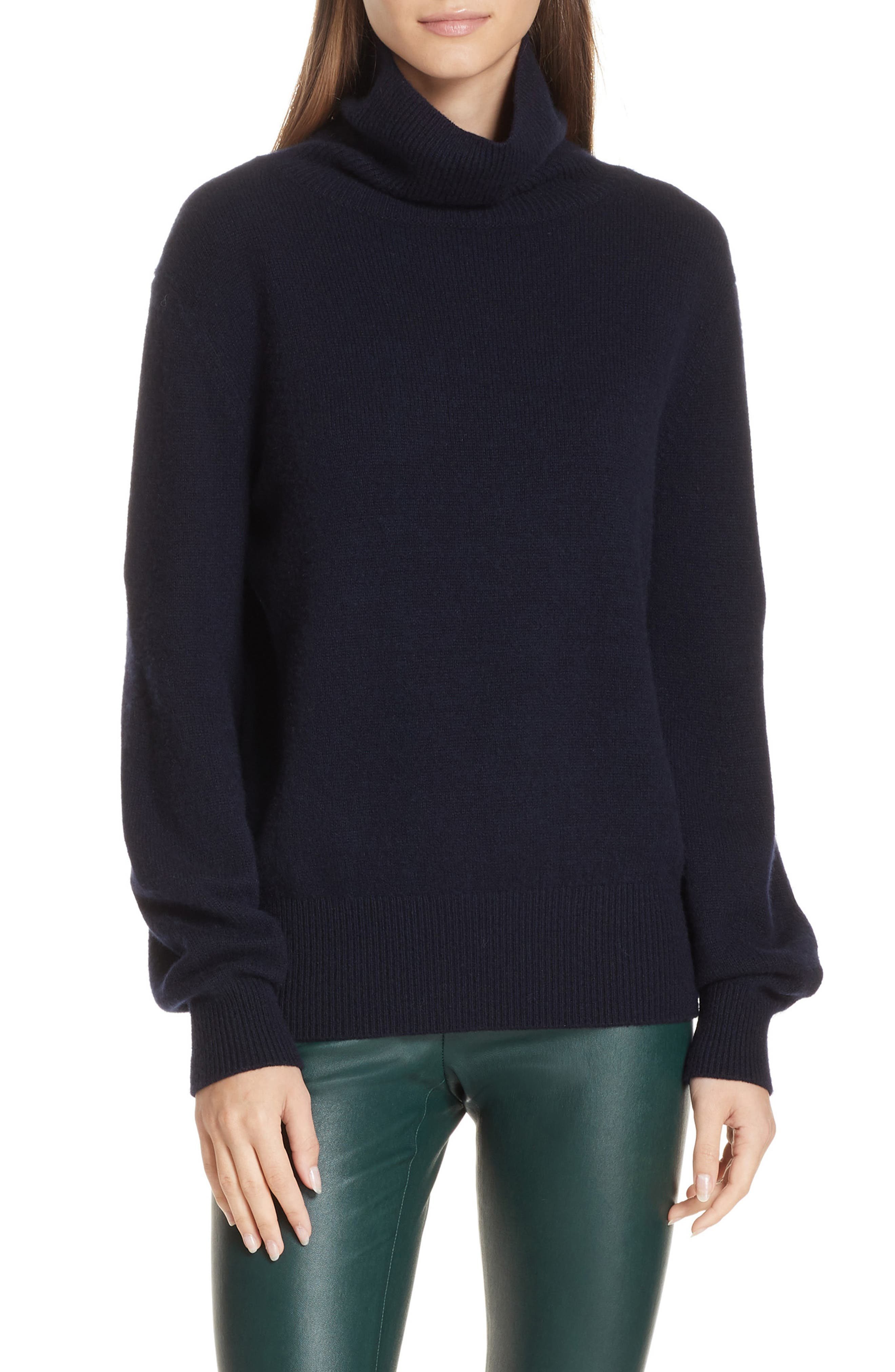 Bishop Sleeve Cashmere Sweater,                         Main,                         color, 403