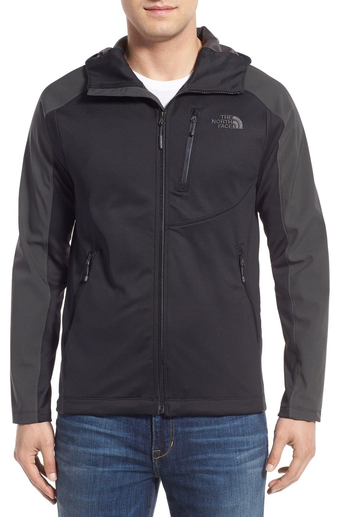 Tenacious Active Fit Hooded Jacket,                             Main thumbnail 1, color,                             010