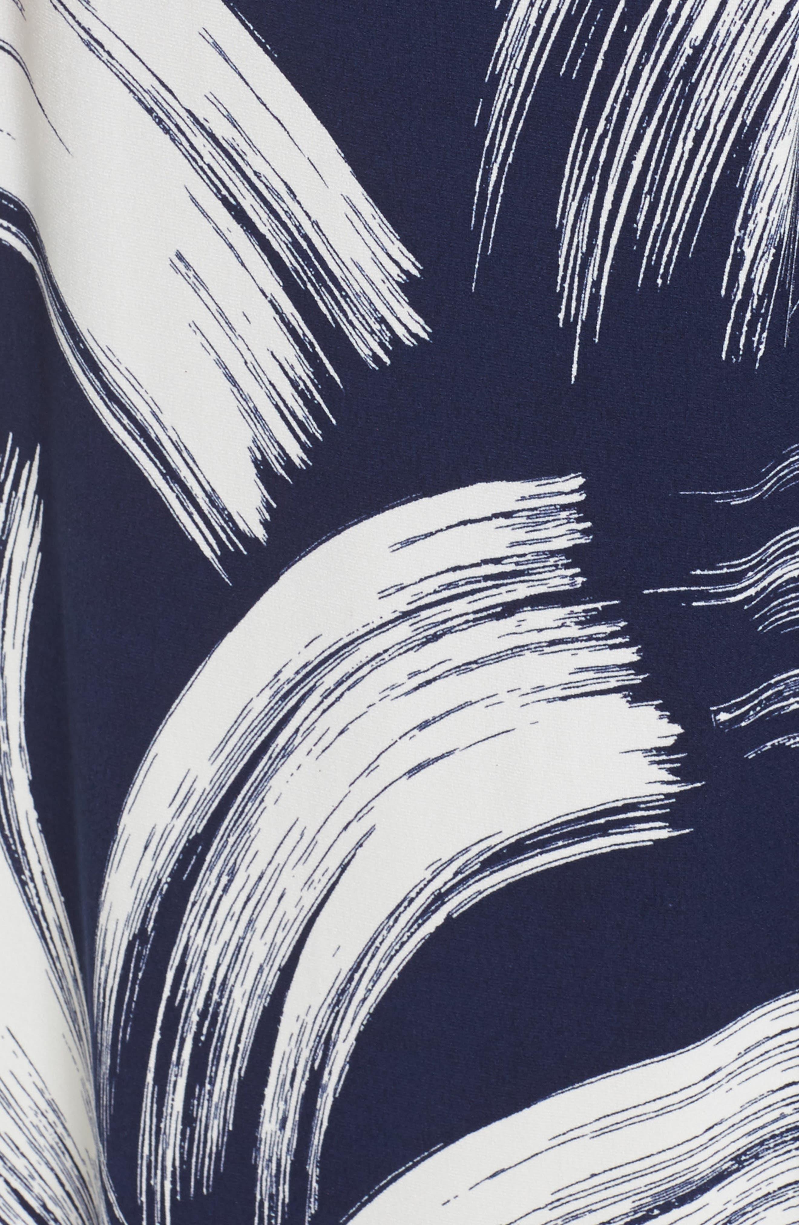 Brush Print Jersey Maxi Dress,                             Alternate thumbnail 5, color,                             407
