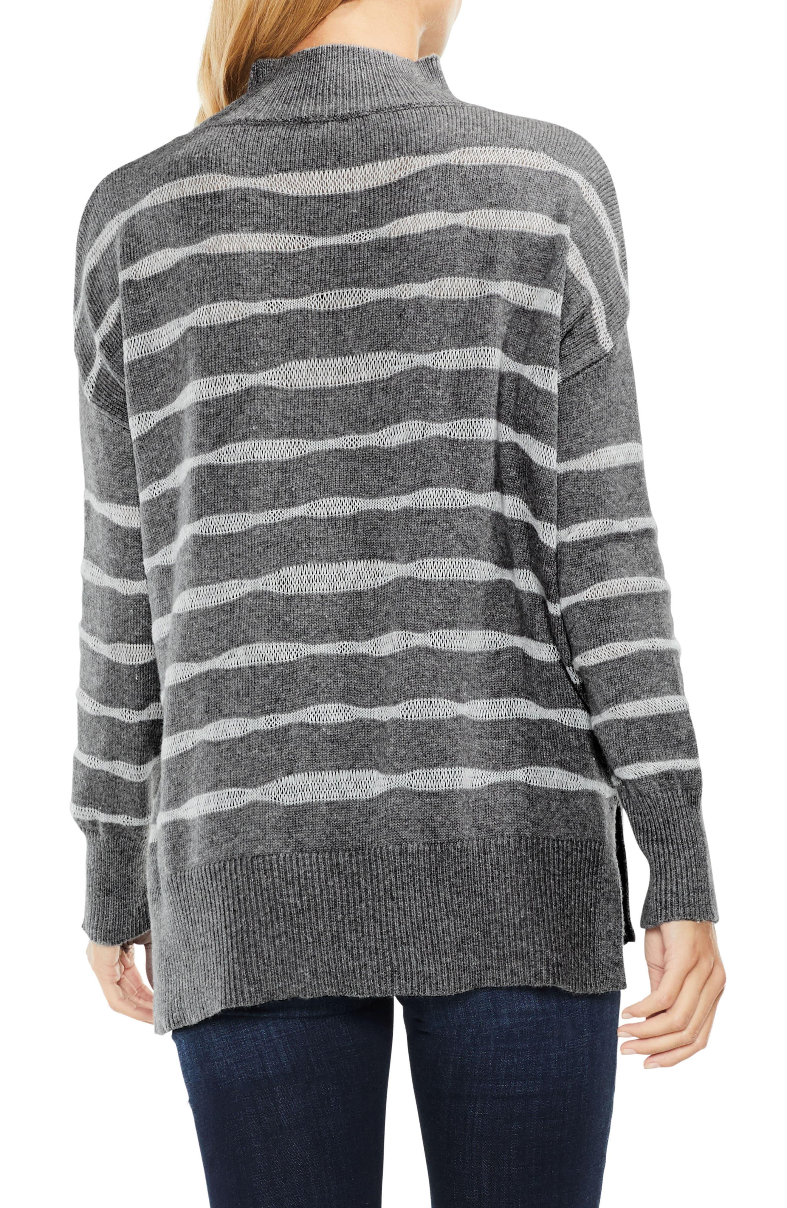 Mock Neck Stripe Sweater,                             Alternate thumbnail 2, color,                             023