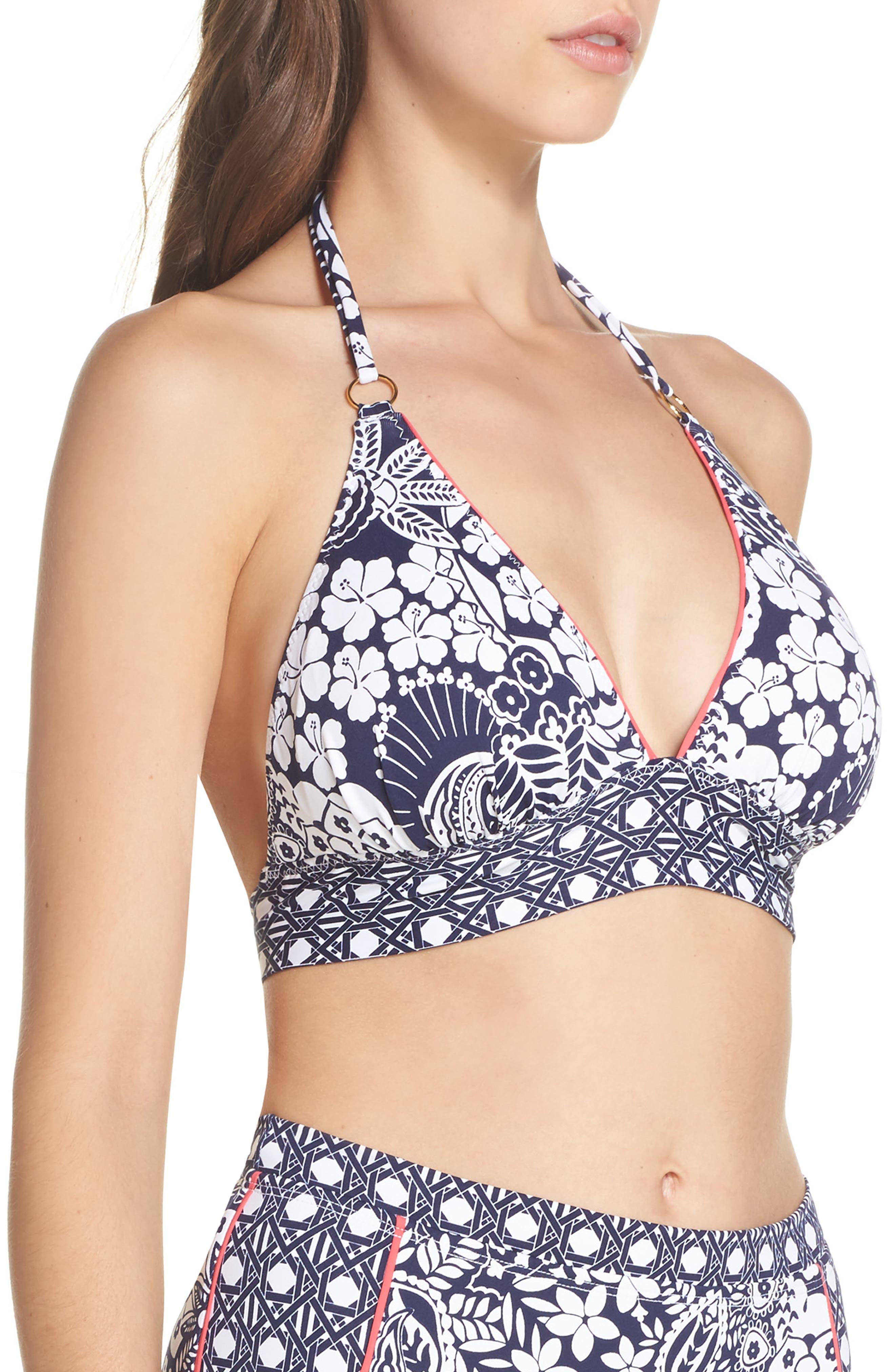 Paisley Paradise Halter Bikini Top,                             Alternate thumbnail 3, color,                             400