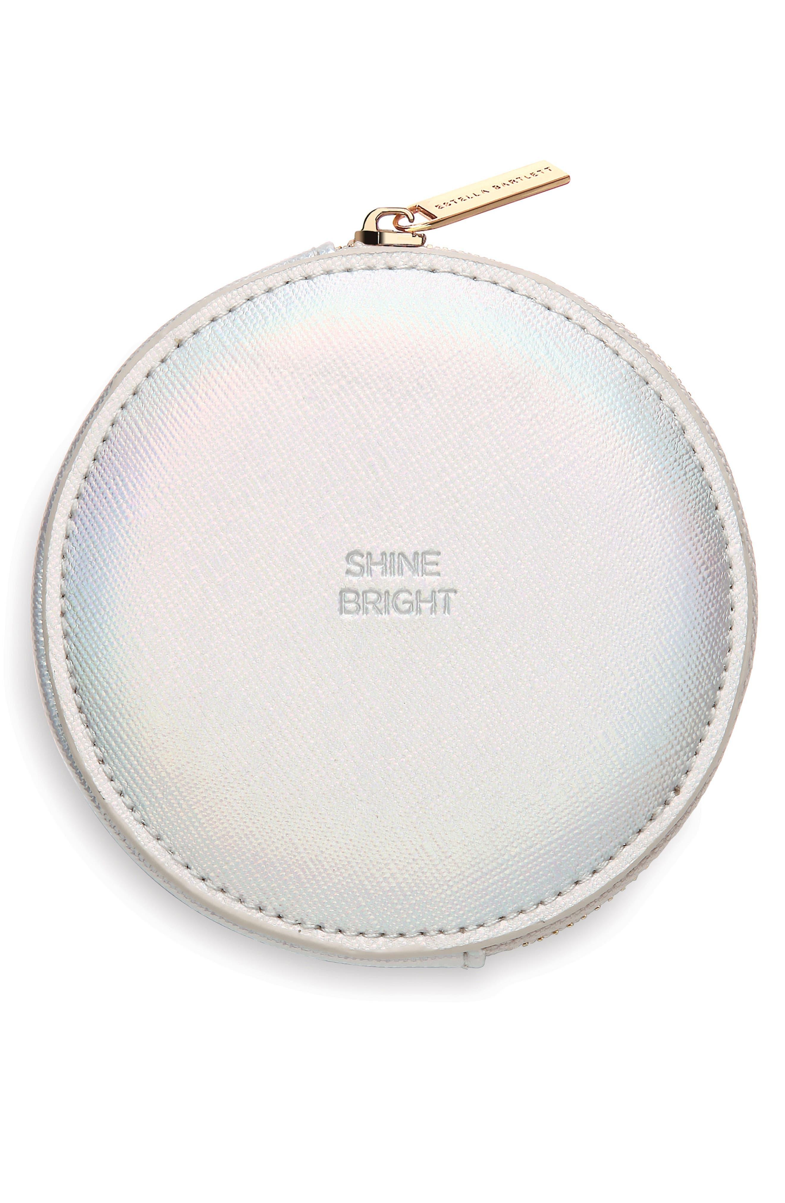 Shine Bright Faux Leather Pouch,                         Main,                         color, 040