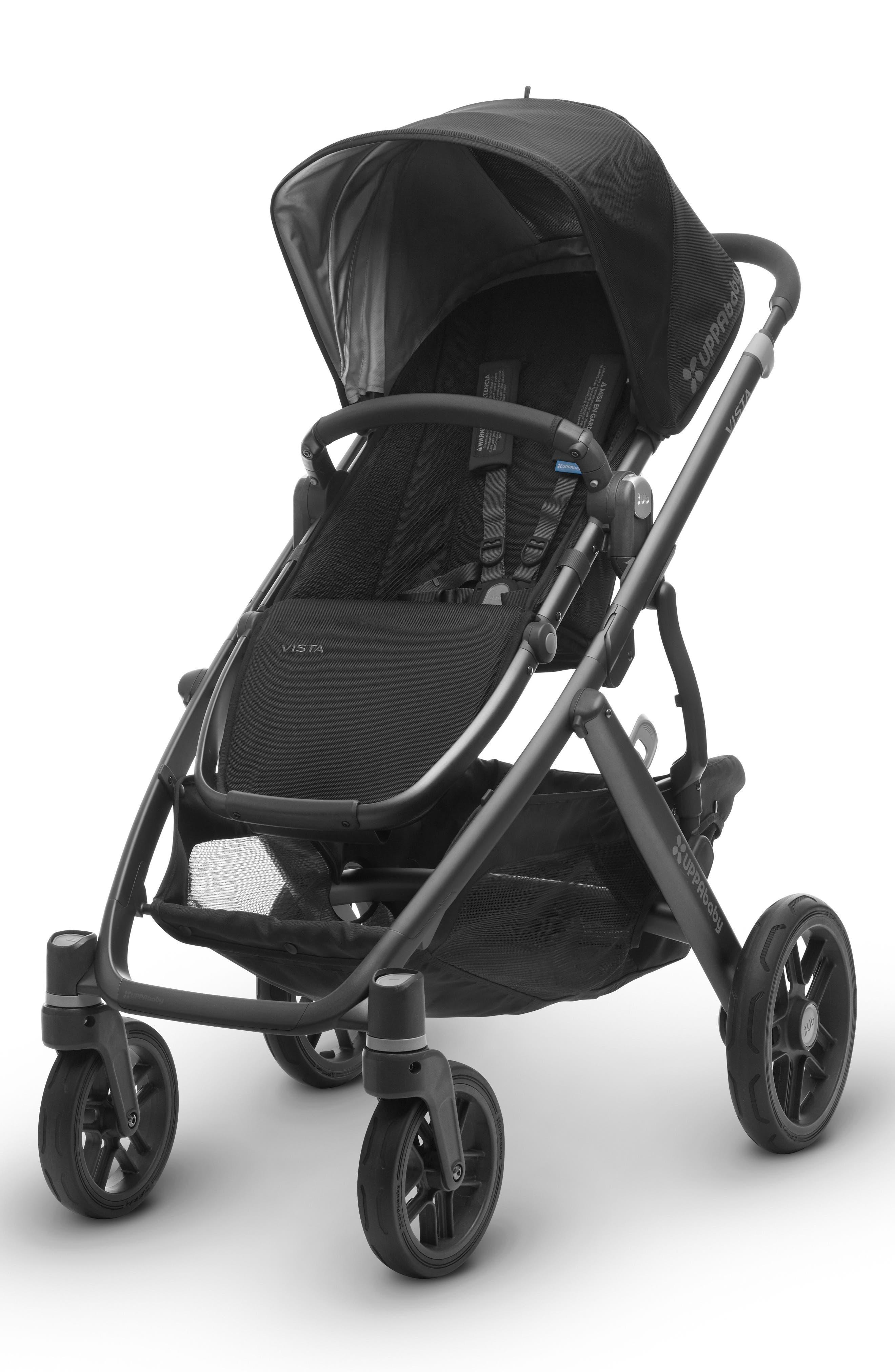 2017 VISTA Aluminum Frame Convertible Stroller with Bassinet & Toddler Seat,                             Main thumbnail 1, color,                             001