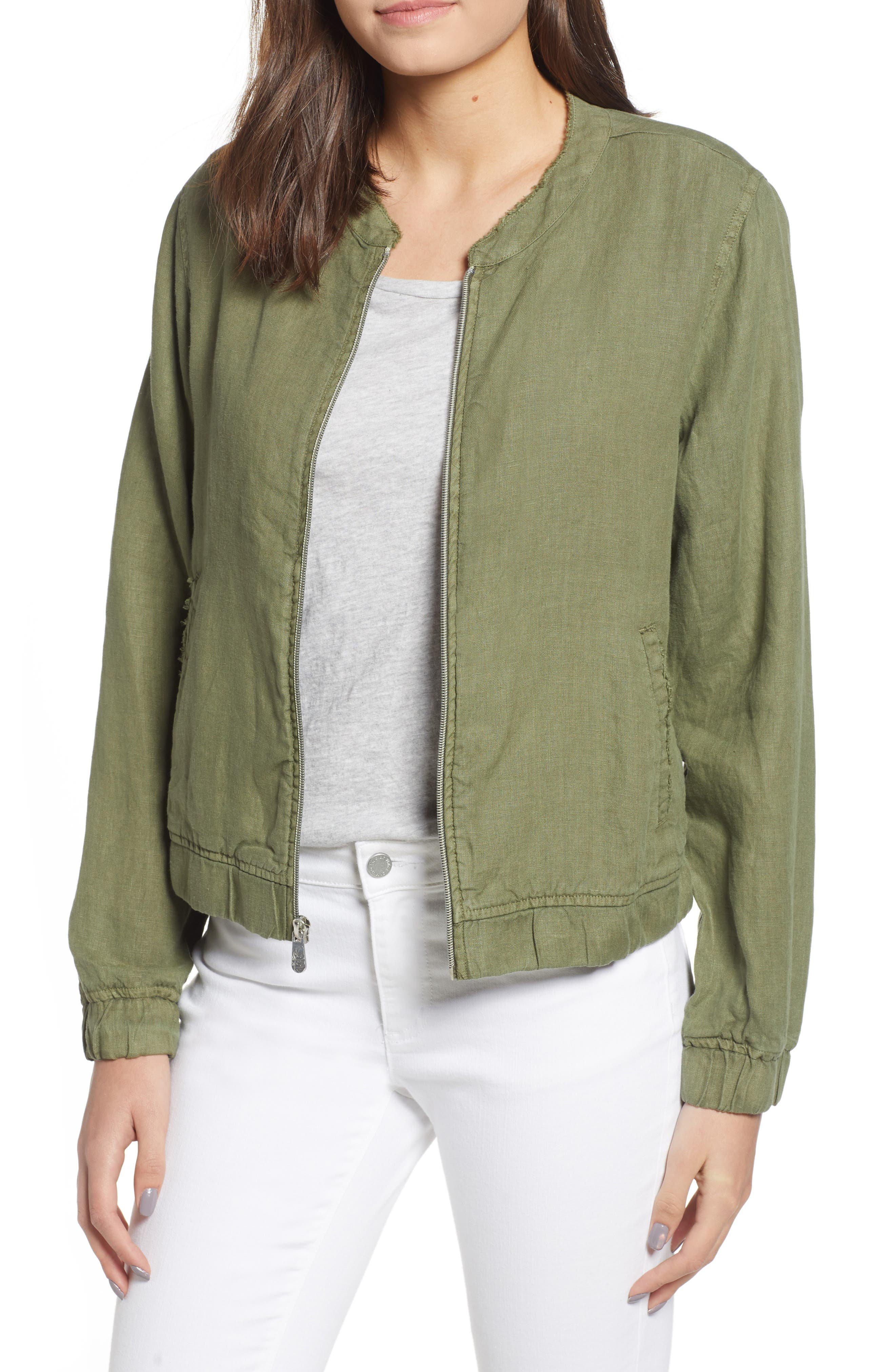 Linen Bomber Jacket,                             Main thumbnail 1, color,                             300