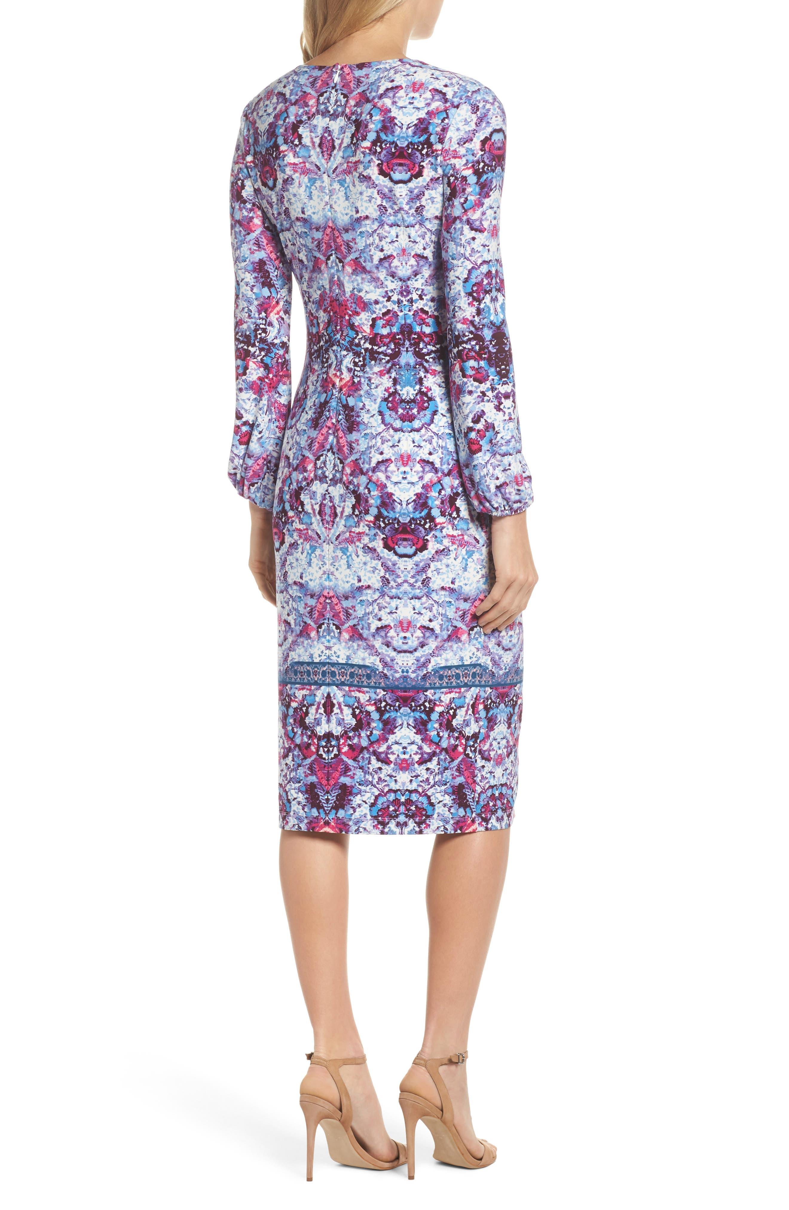 Midi Sheath Dress,                             Alternate thumbnail 2, color,                             595