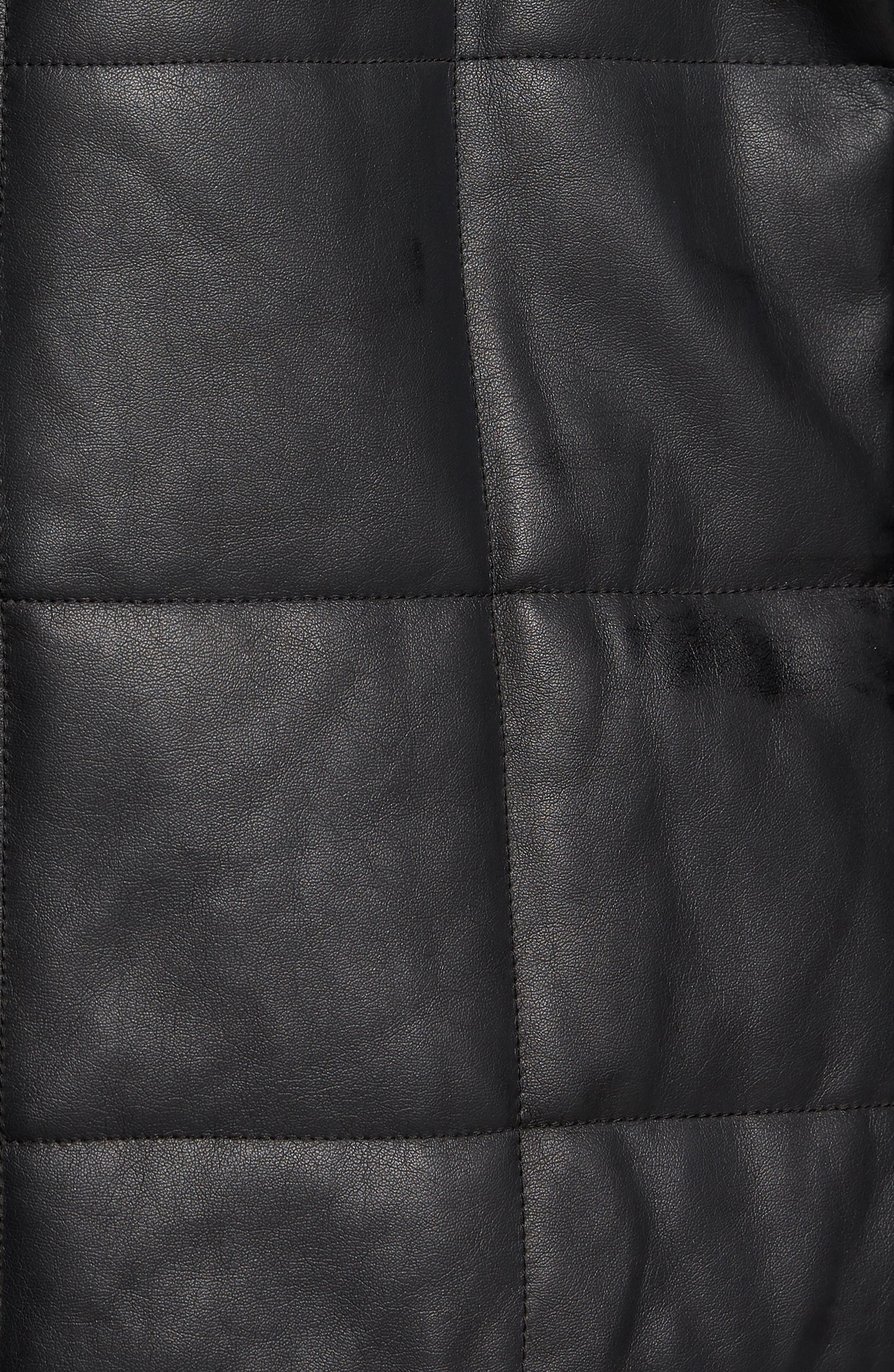 Quilted Convertible Vest/Jacket,                             Alternate thumbnail 6, color,                             BLACK