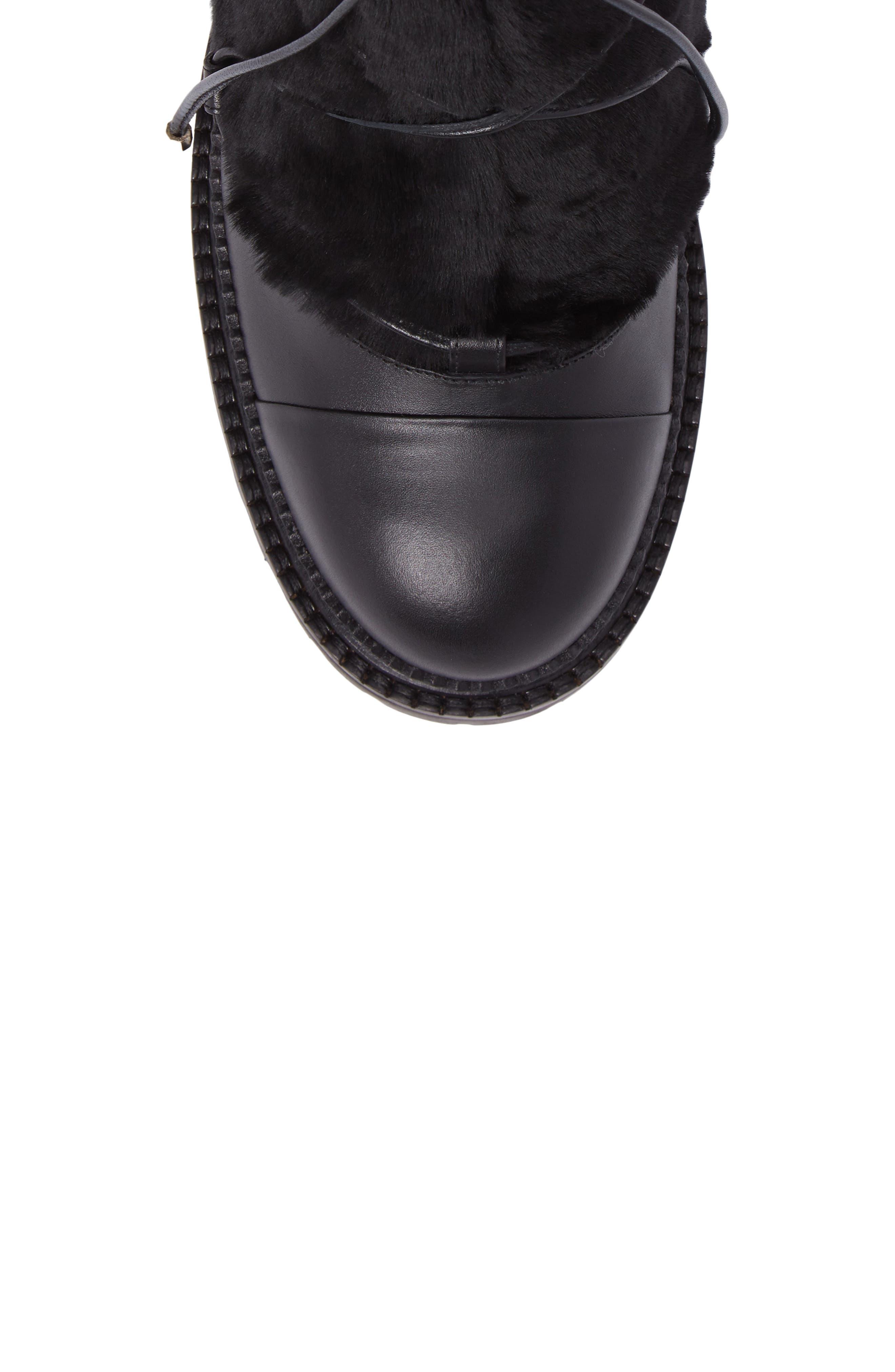 Darcie Genuine Shearling Boot,                             Alternate thumbnail 5, color,                             001