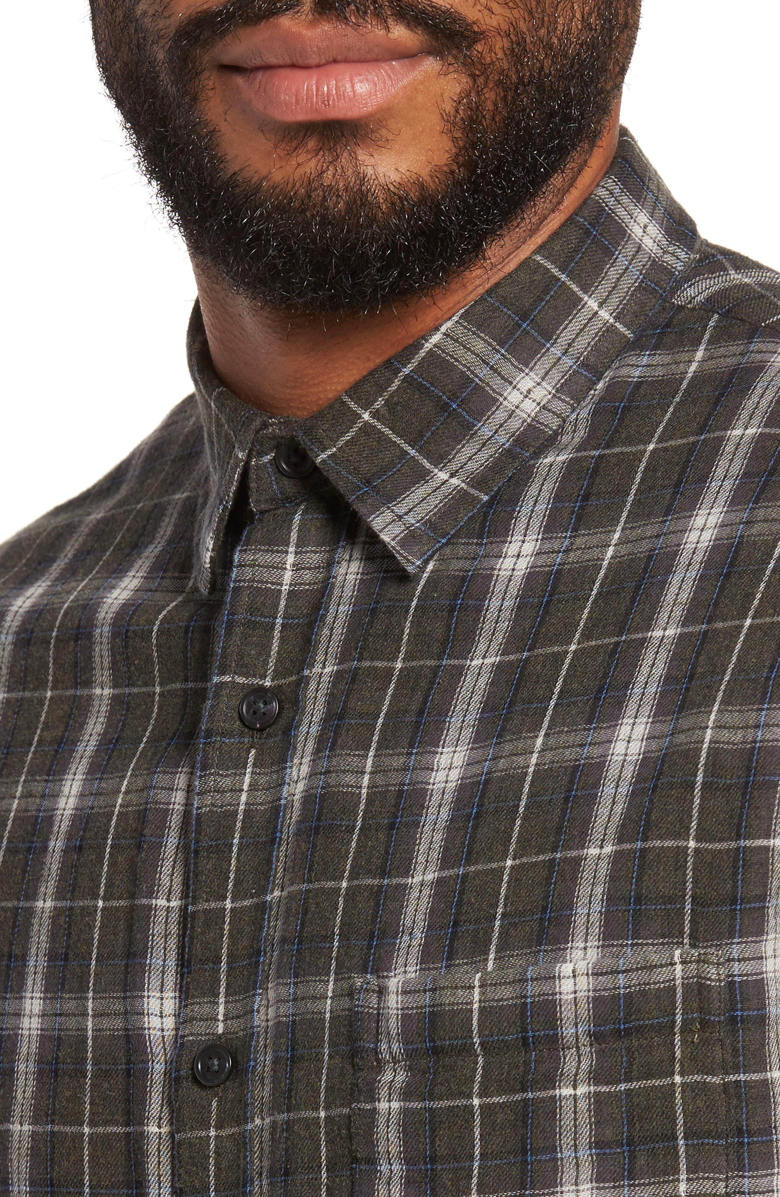 Plaid Double Face Sport Shirt,                             Alternate thumbnail 4, color,                             200