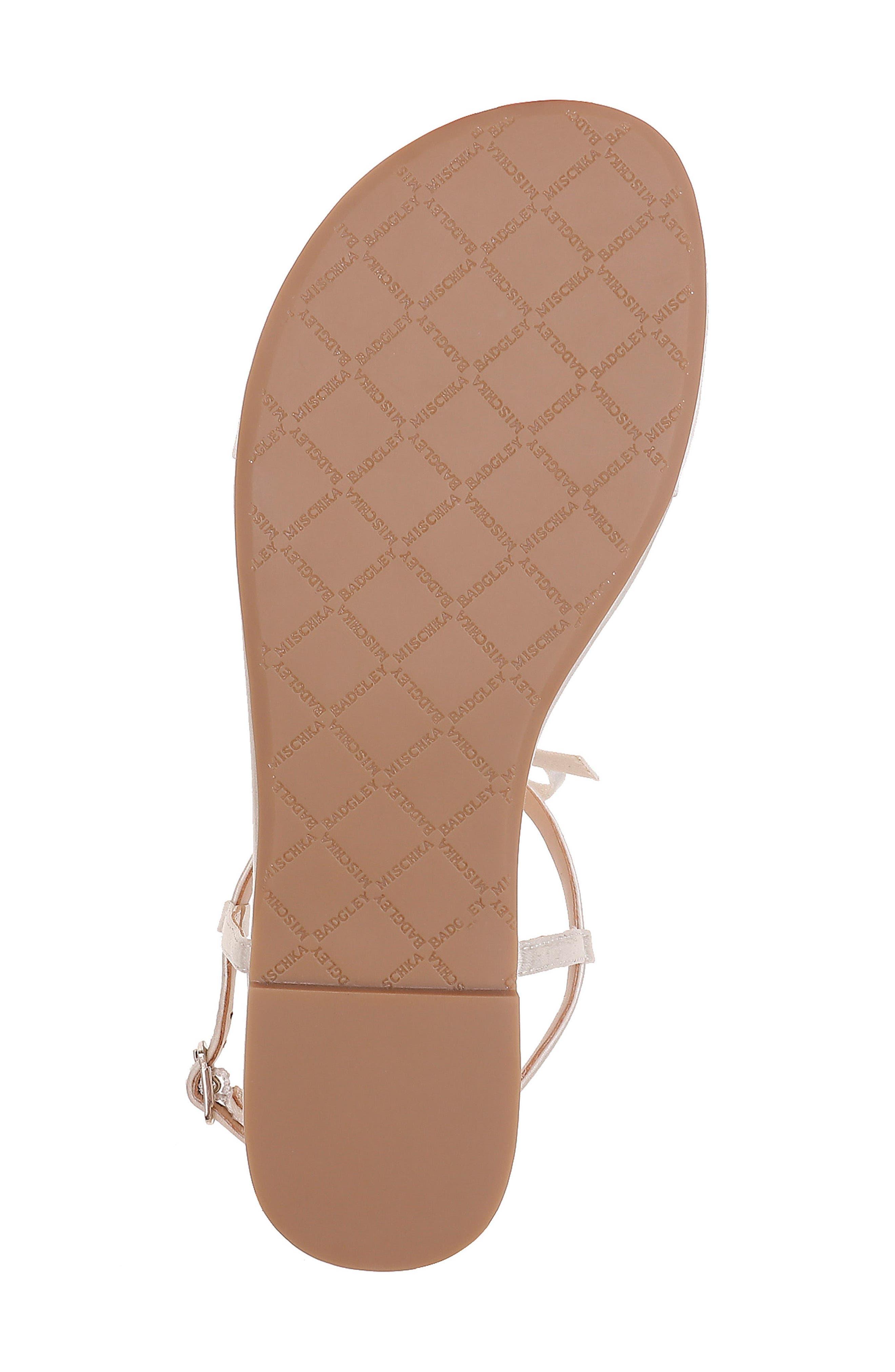 Honey Embellished Sandal,                             Alternate thumbnail 6, color,                             IVORY SATIN
