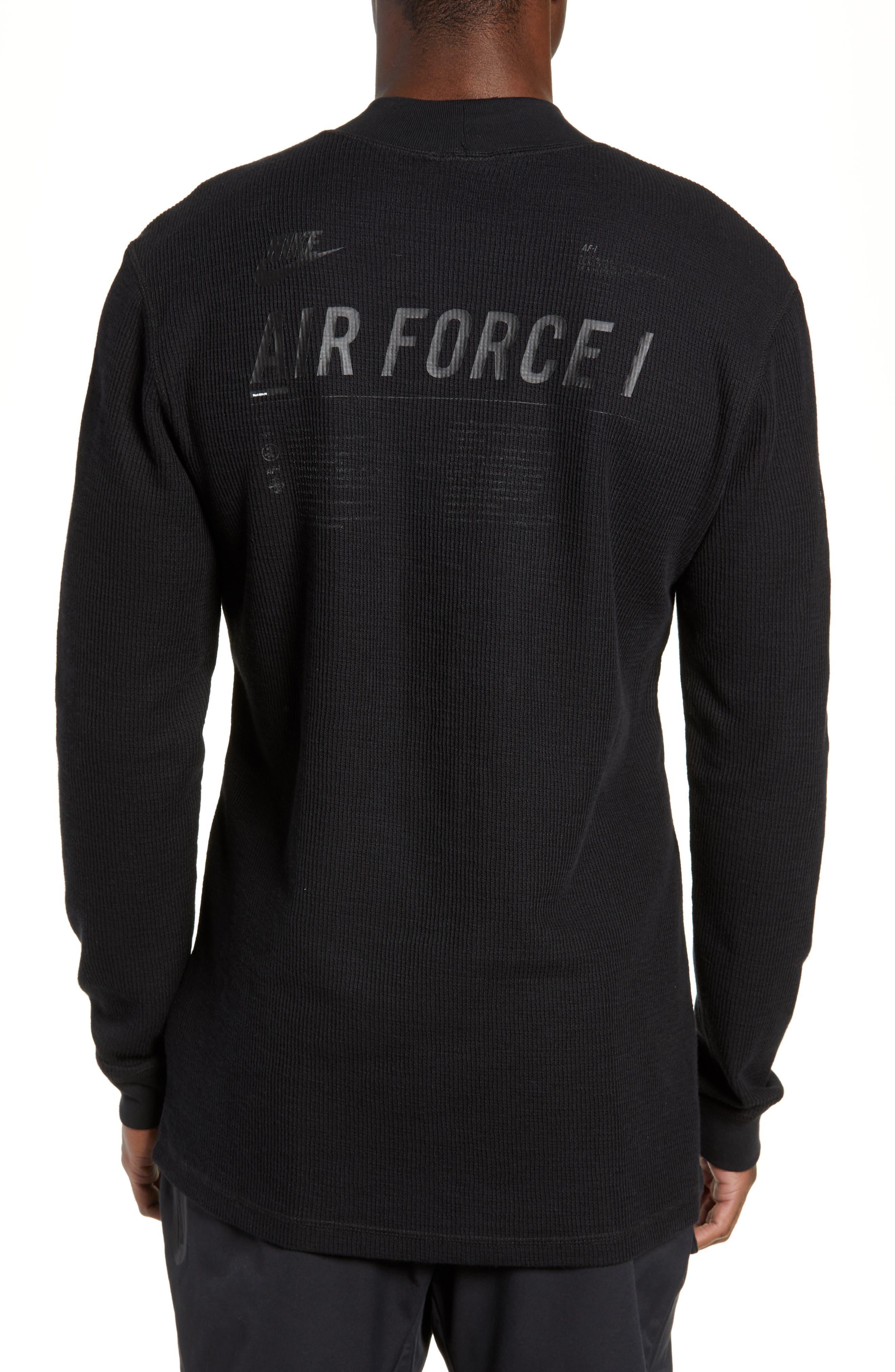 Sportswear Air Force 1 Long Sleeve Top,                             Alternate thumbnail 2, color,                             BLACK