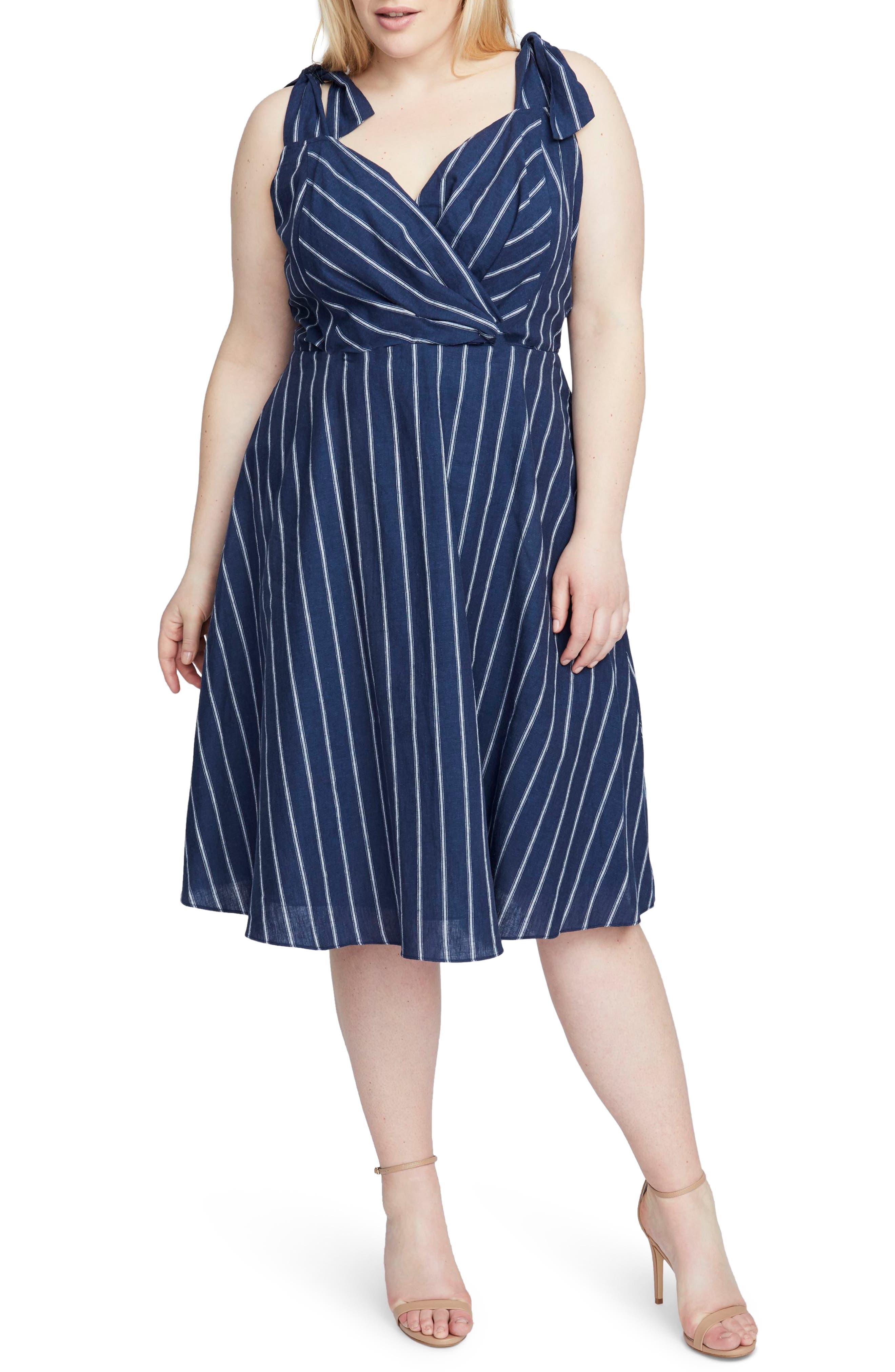 Plus Size Rachel Rachel Roy Kate Stripe Dress, Blue