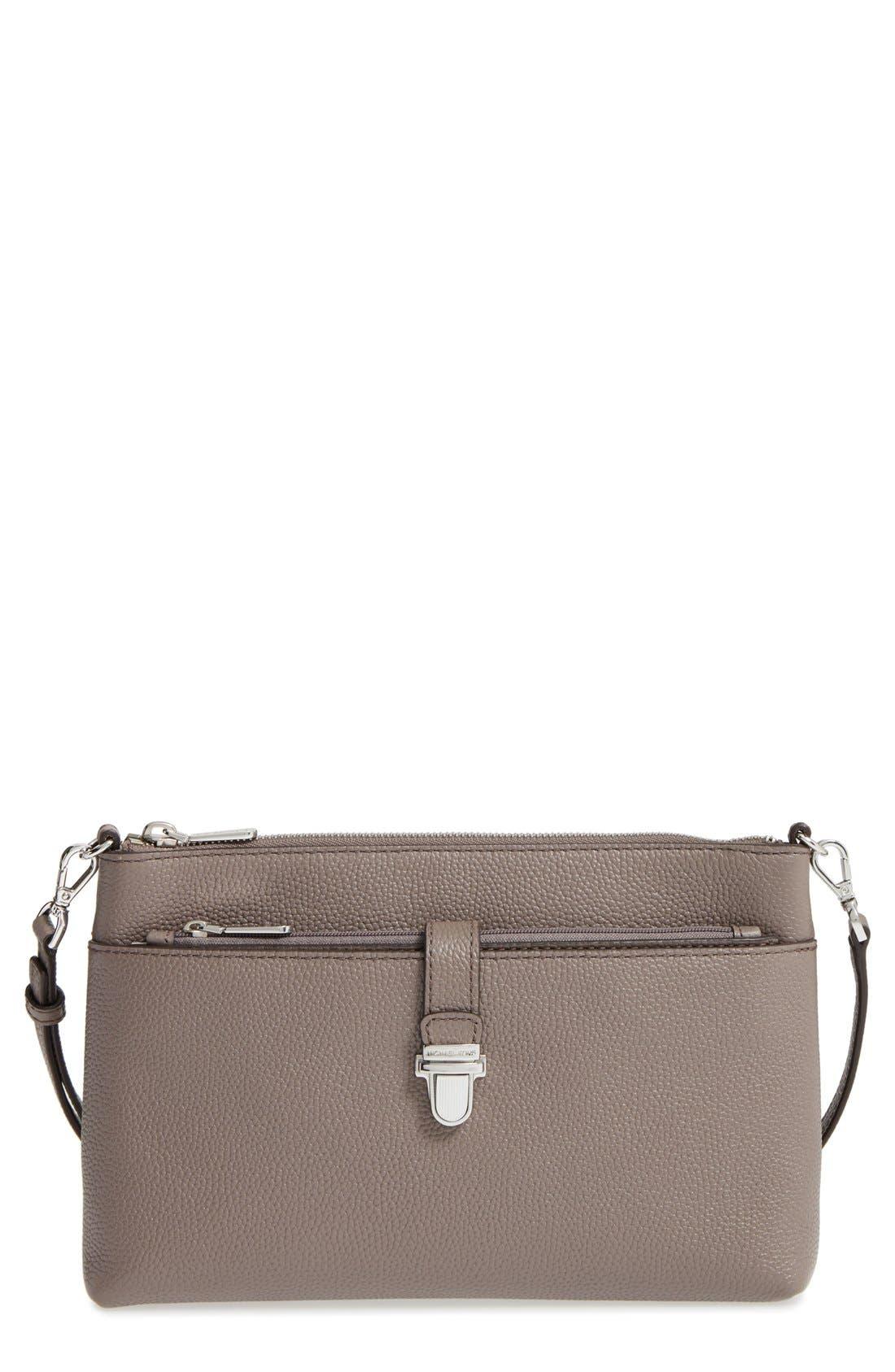 Large Mercer Leather Crossbody Bag,                             Main thumbnail 1, color,                             513