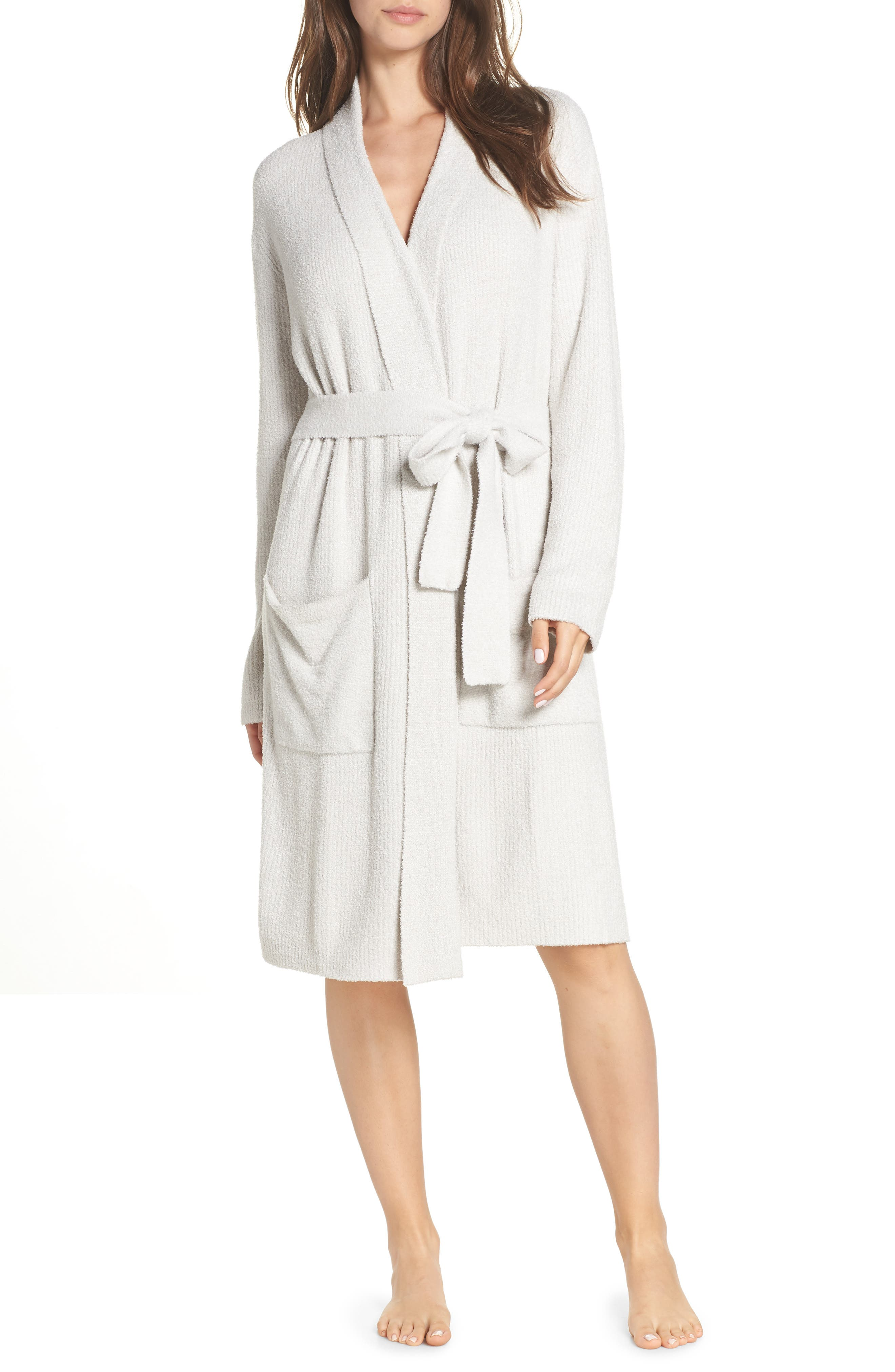 CozyChic<sup>™</sup> Ribbed Robe,                             Main thumbnail 1, color,                             SILVER/ PEARL- HE