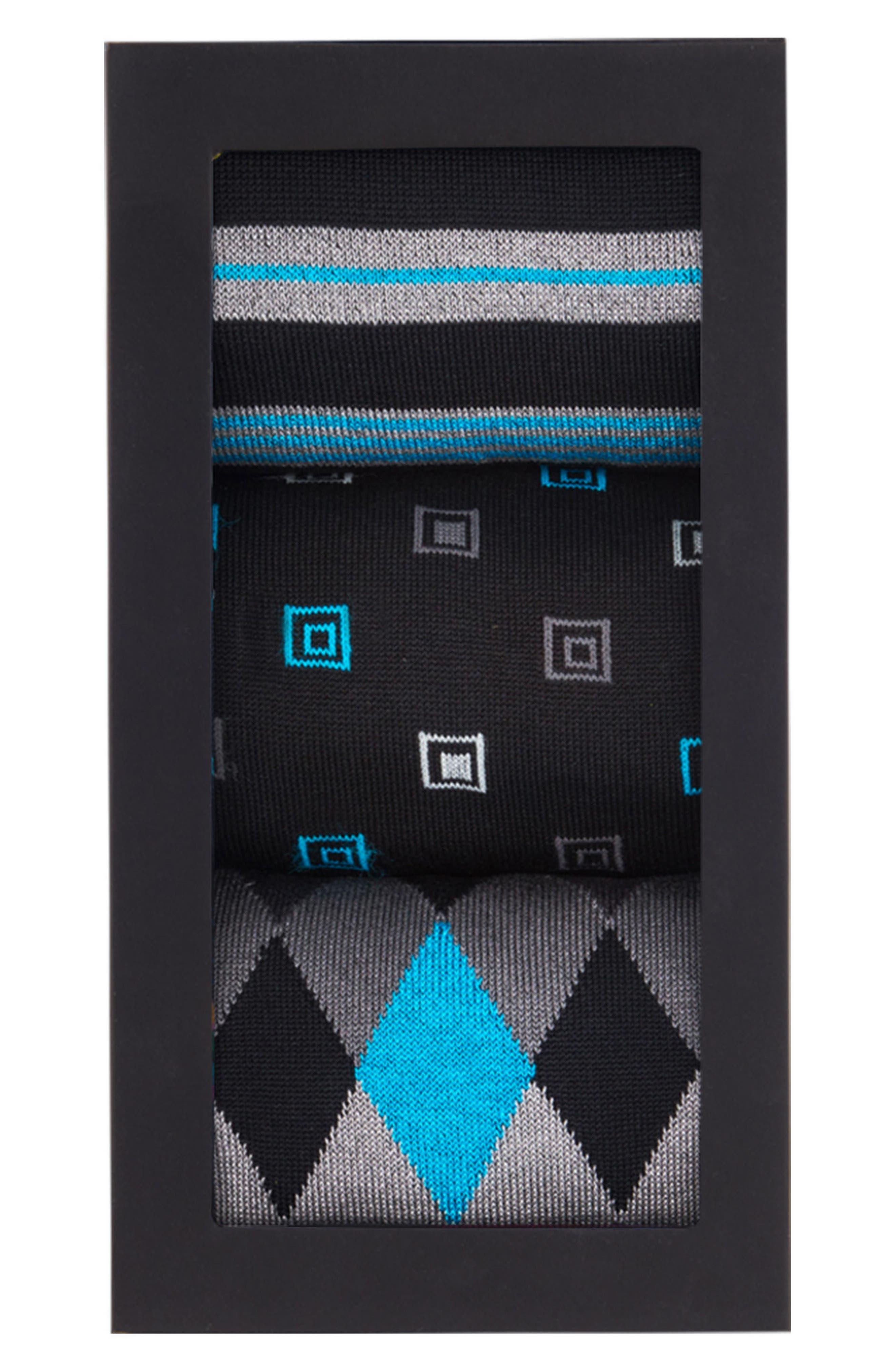 3-Pack Assorted Mercerized Cotton Blend Sock Gift Set,                             Alternate thumbnail 2, color,